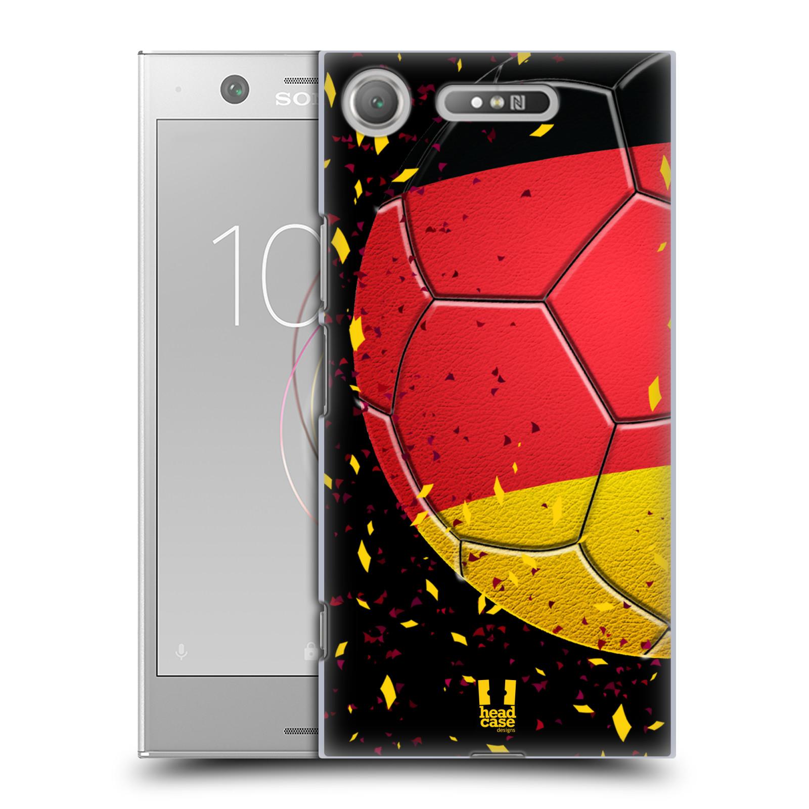 HEAD CASE plastový obal na mobil Sony Xperia XZ1 Sport fotbal mistrovský míč