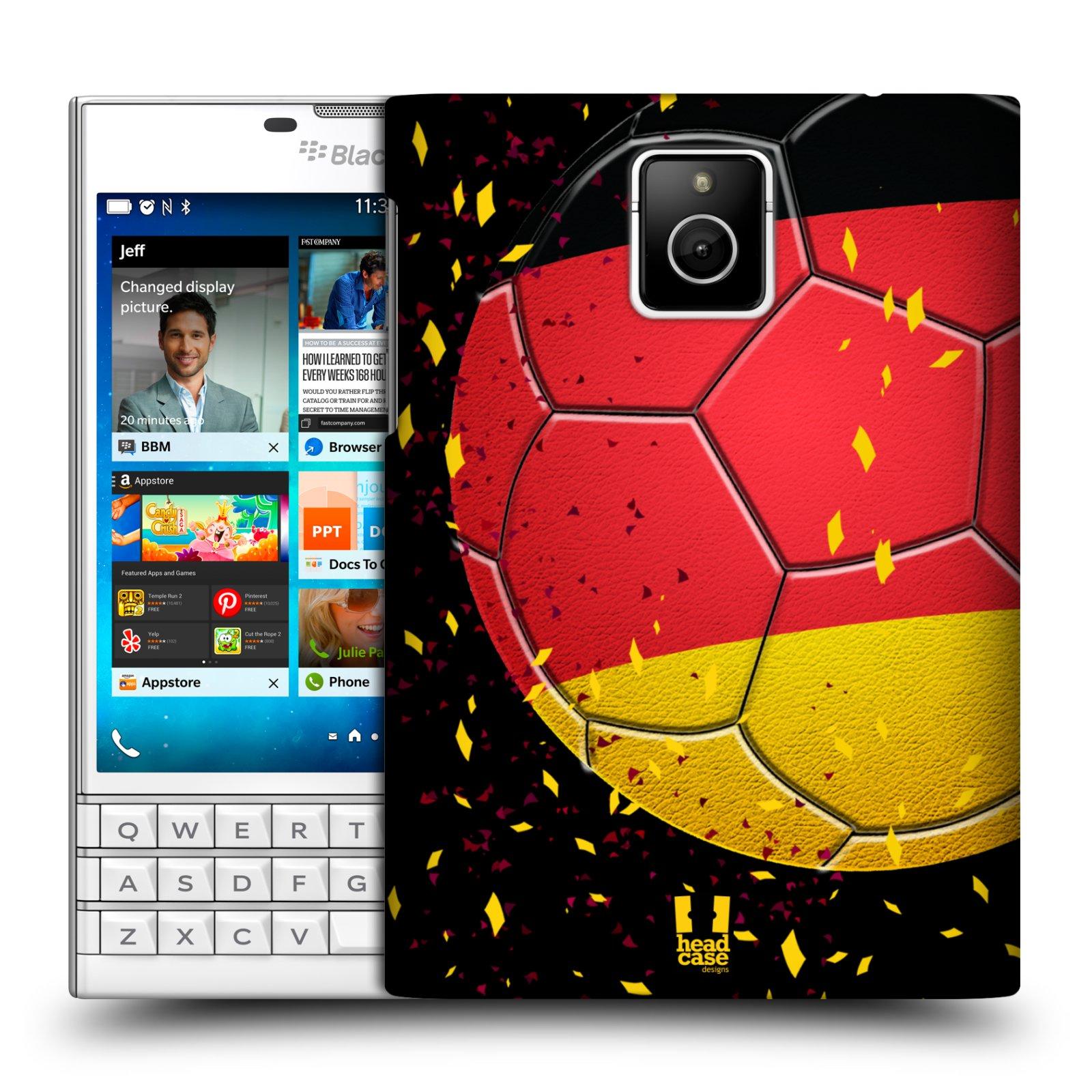 HEAD CASE plastový obal na mobil BlackBerry Passport Sport fotbal mistrovský míč