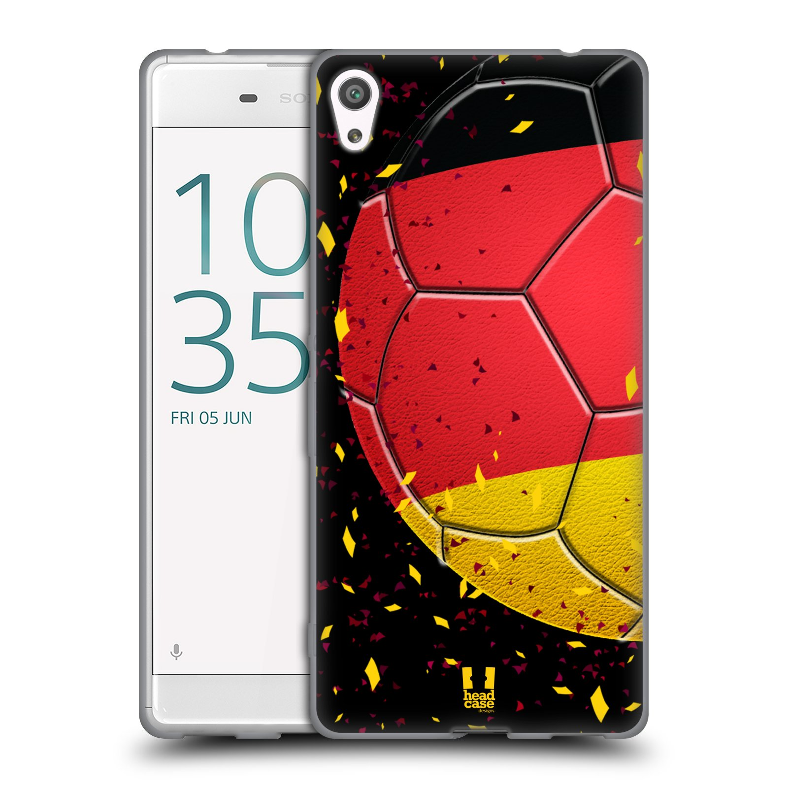 HEAD CASE silikonový obal na mobil Sony Xperia XA ULTRA Sport fotbal mistrovský míč