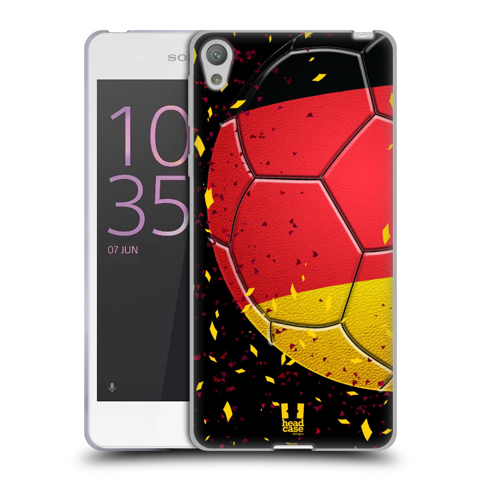 HEAD CASE silikonový obal na mobil Sony Xperia E5 Sport fotbal mistrovský míč