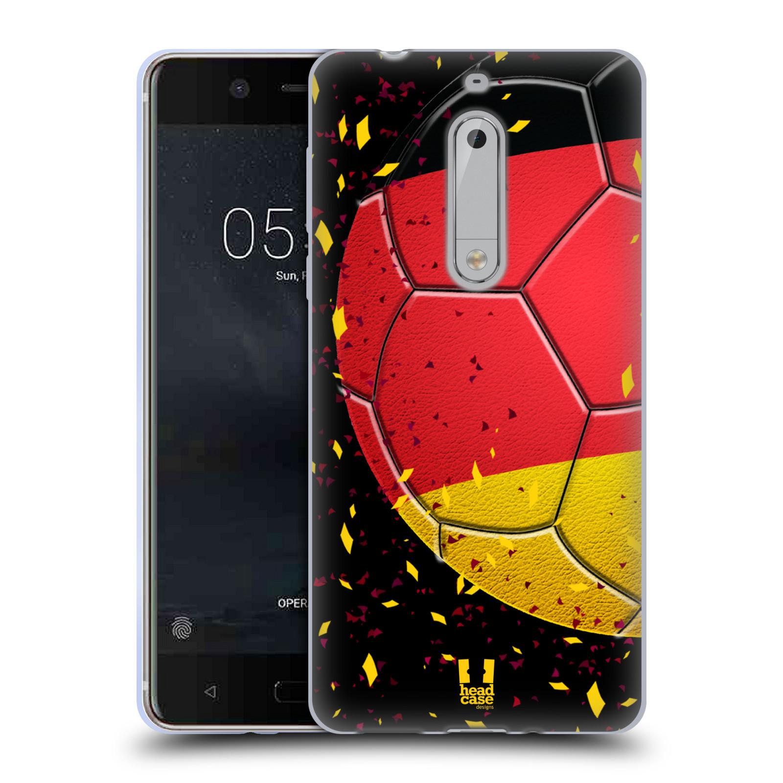 HEAD CASE silikonový obal na mobil Nokia 5 Sport fotbal mistrovský míč