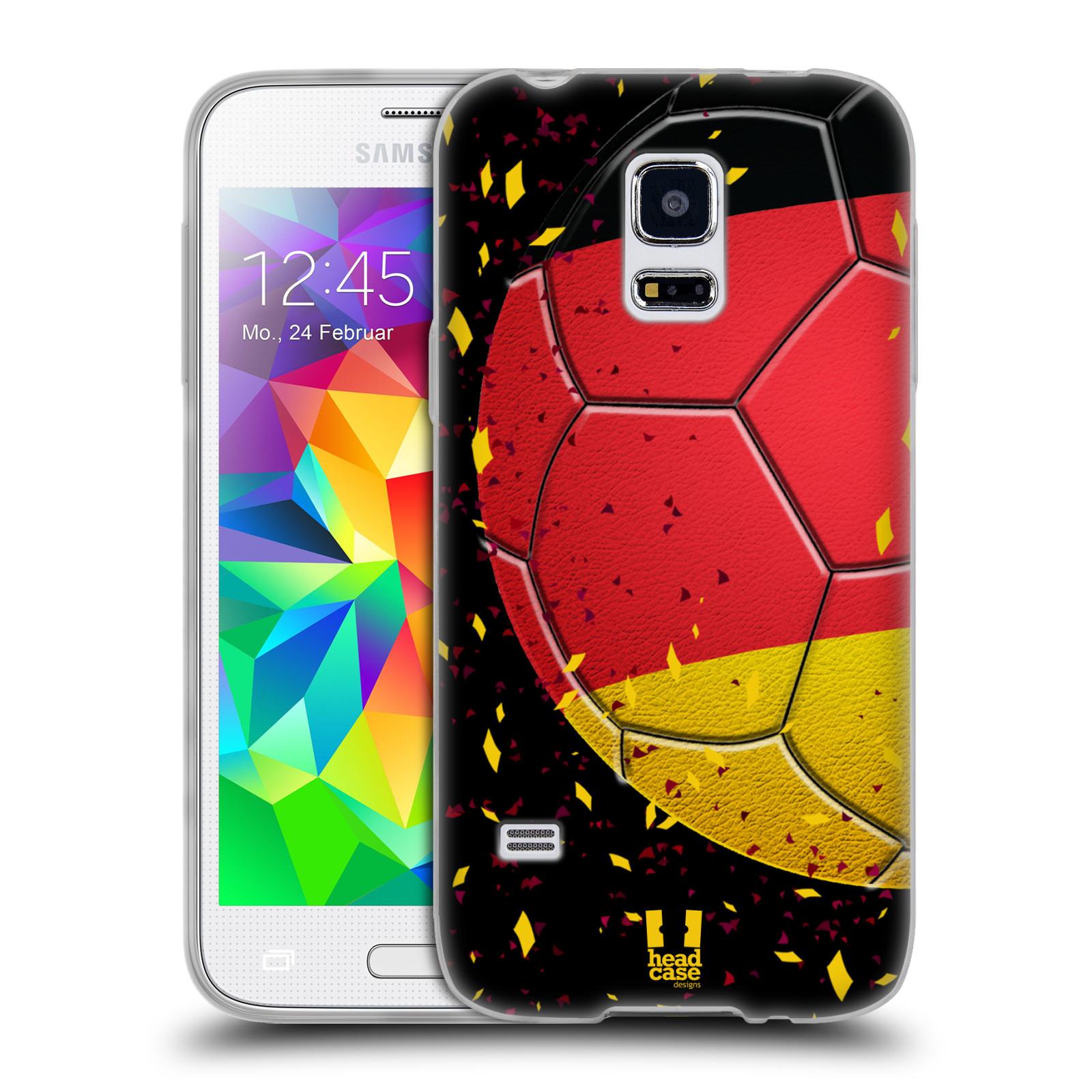 HEAD CASE silikonový obal na mobil Samsung Galaxy S5 MINI Sport fotbal mistrovský míč