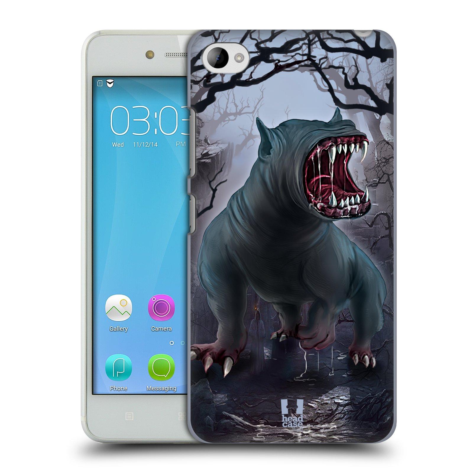 HEAD CASE pevný plastový obal na mobil LENOVO S90 vzor Pohádkové příšery krvelačný pes