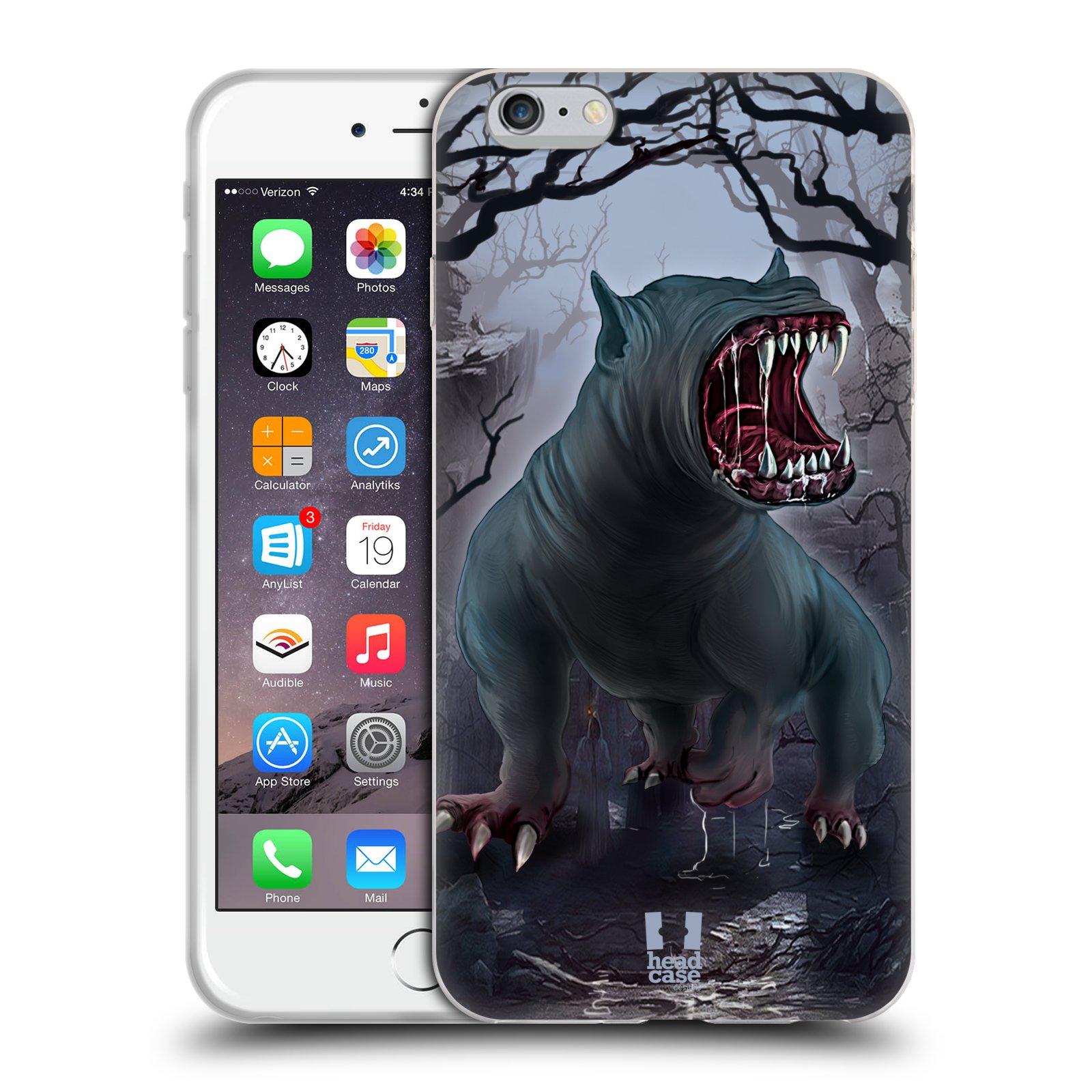HEAD CASE silikonový obal na mobil Apple Iphone 6 PLUS/ 6S PLUS vzor Pohádkové příšery krvelačný pes