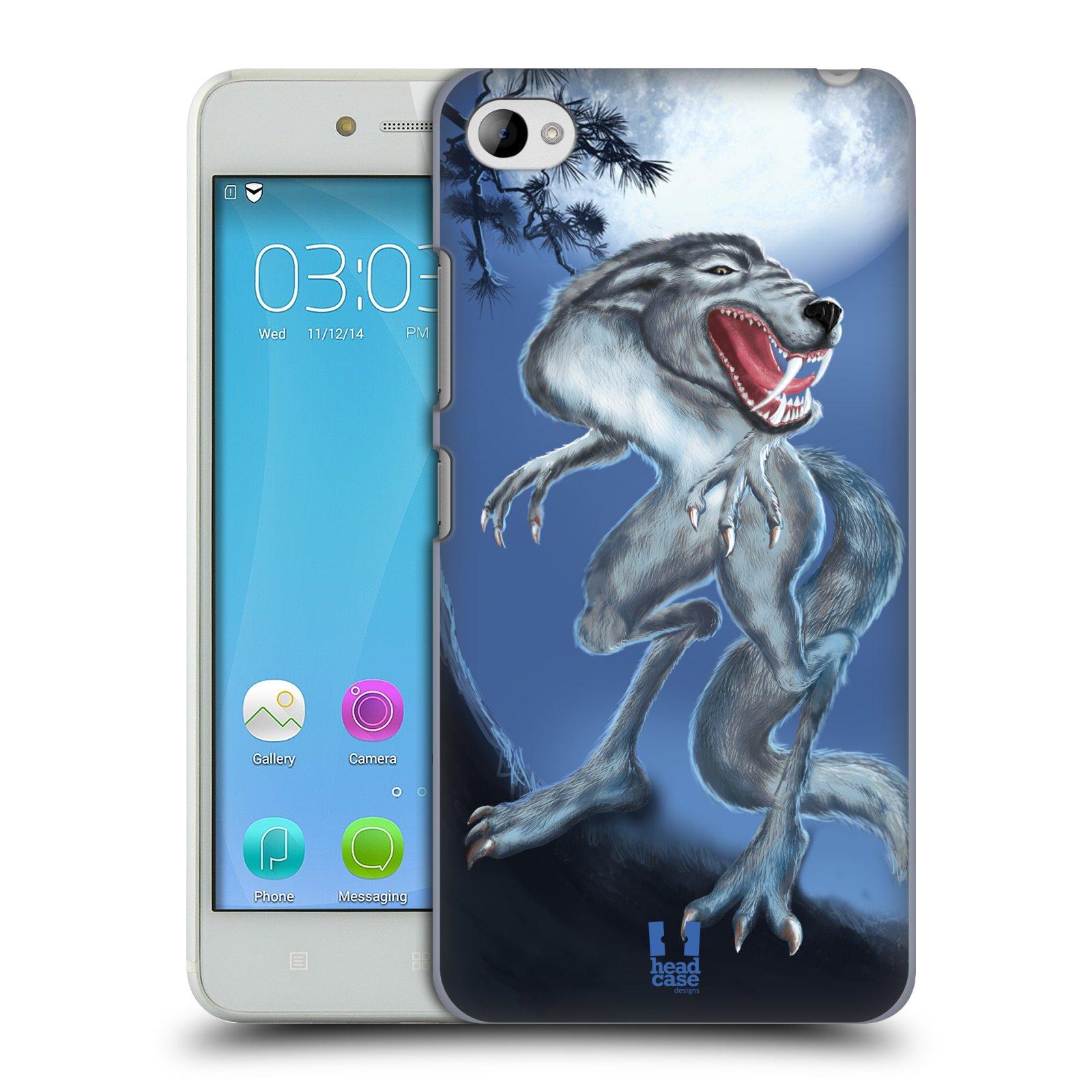 HEAD CASE pevný plastový obal na mobil LENOVO S90 vzor Pohádkové příšery hladový vlk