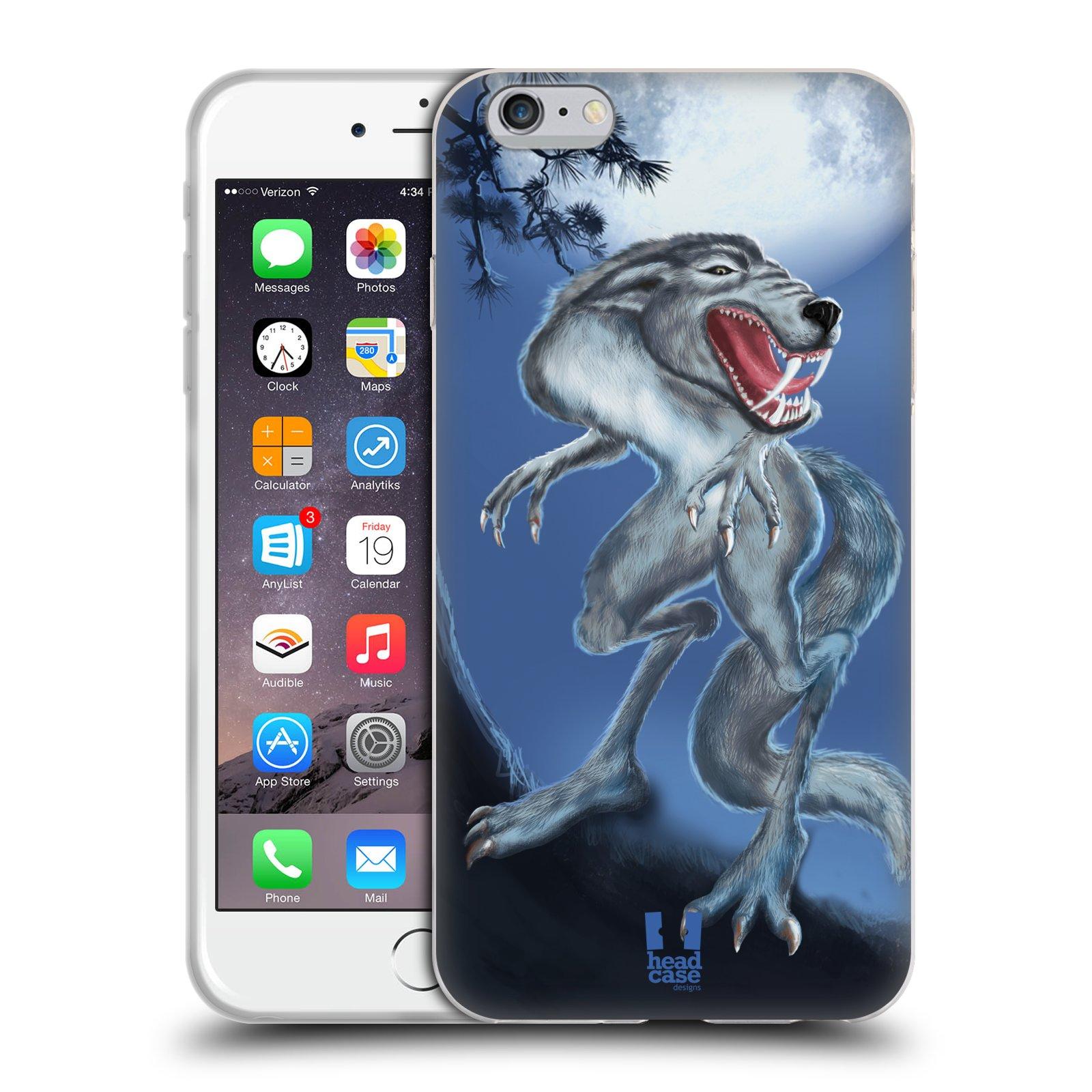 HEAD CASE silikonový obal na mobil Apple Iphone 6 PLUS/ 6S PLUS vzor Pohádkové příšery hladový vlk