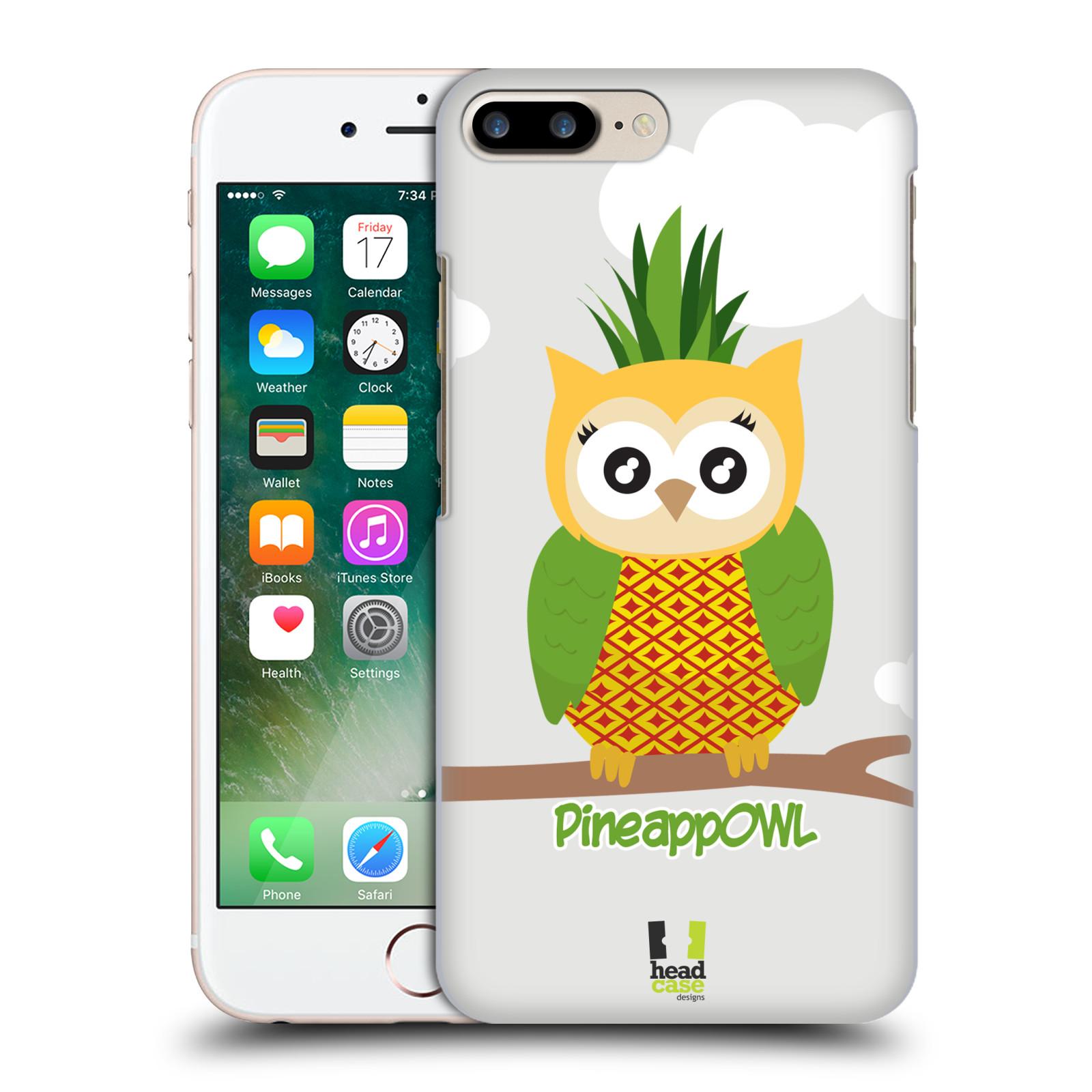 HEAD CASE plastový obal na mobil Apple Iphone 7 PLUS vzor Sovička a ovoce ananas