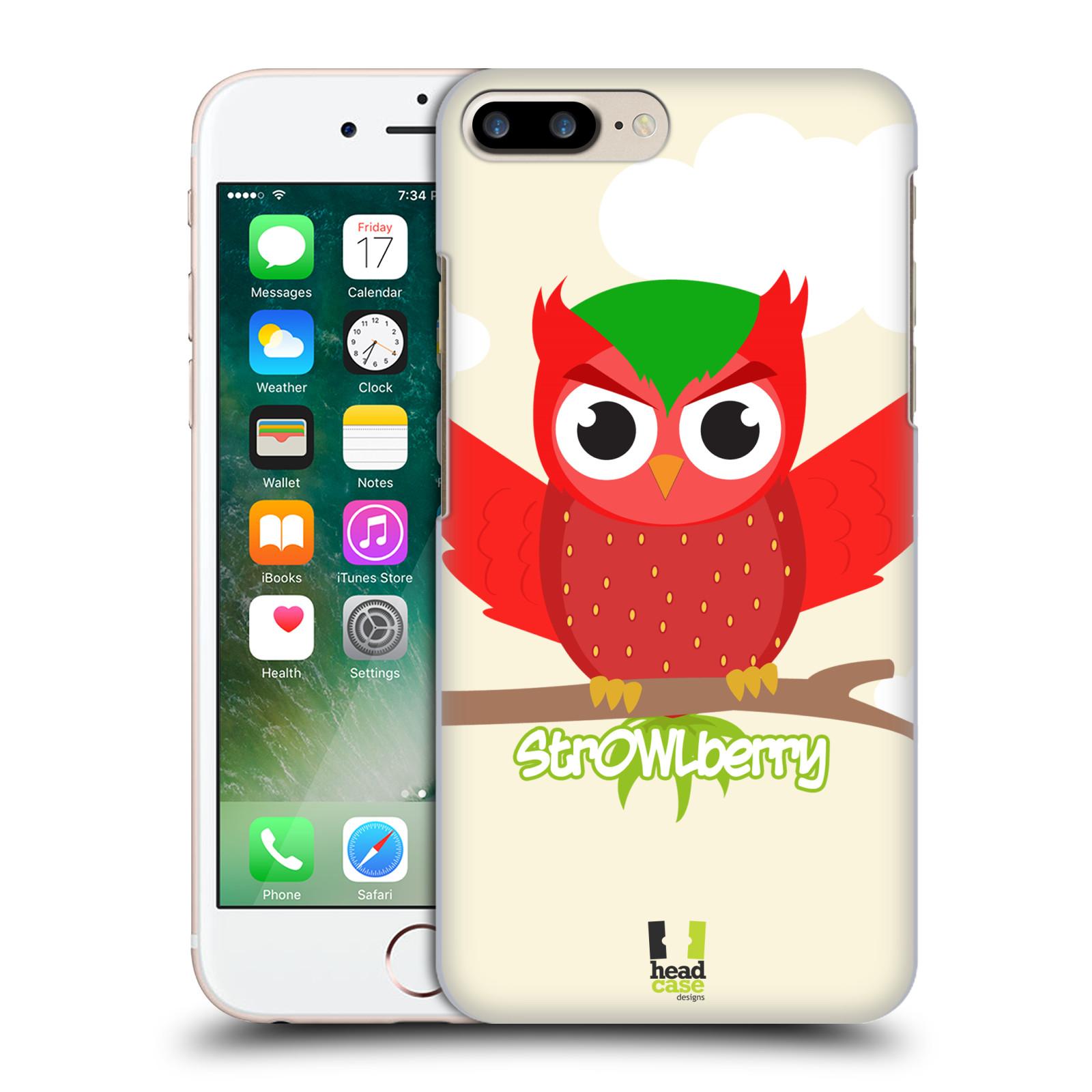 HEAD CASE plastový obal na mobil Apple Iphone 7 PLUS vzor Sovička a ovoce jahoda