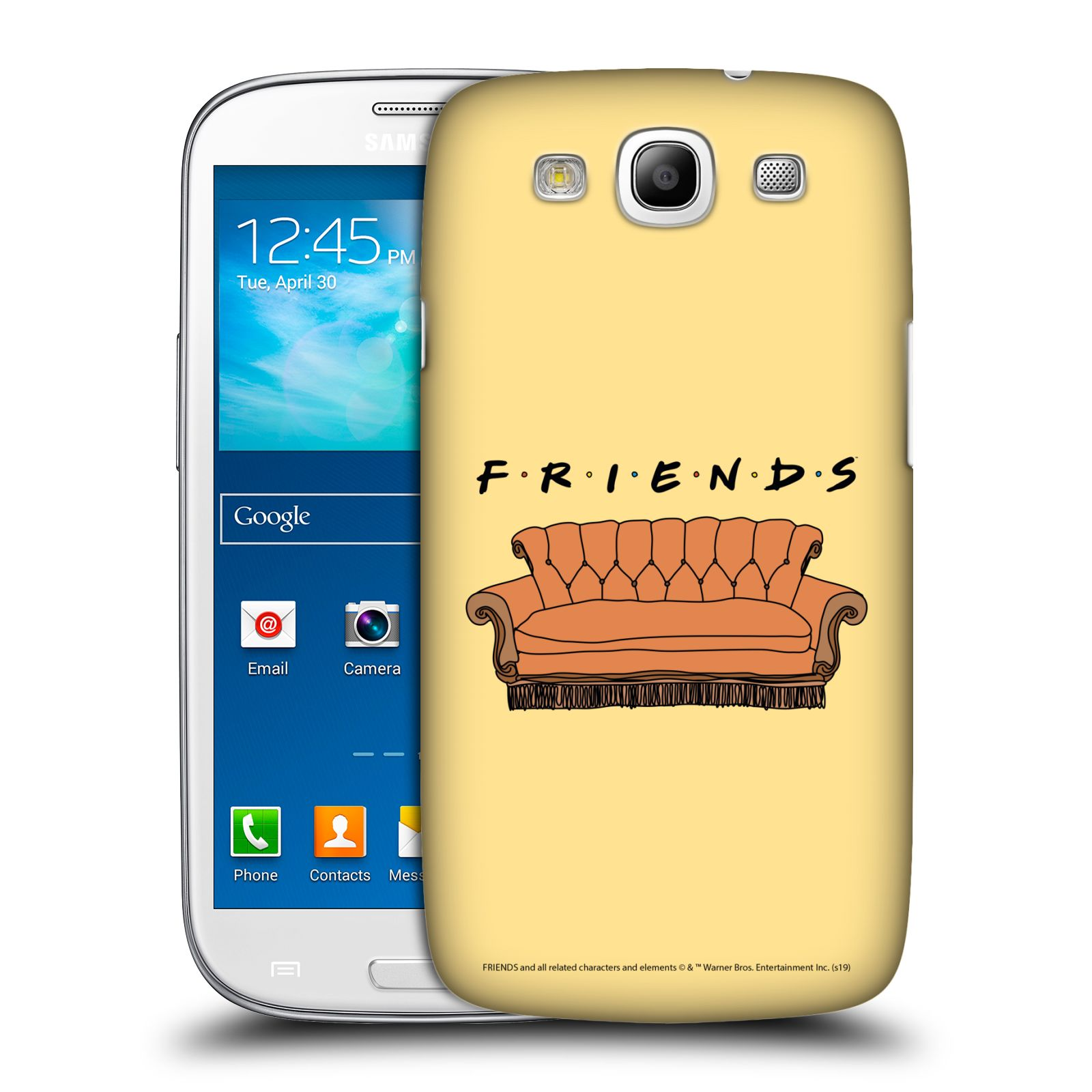 Pouzdro na mobil Samsung Galaxy S3 - HEAD CASE - Seriál Přátelé - pohovka