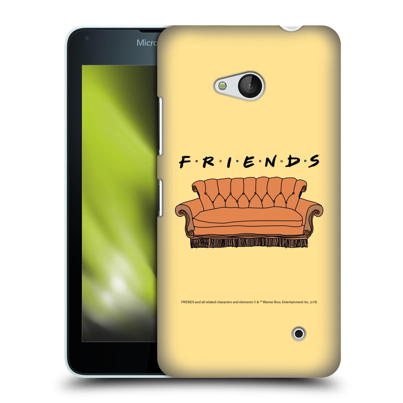 Pouzdro na mobil Microsoft Lumia 640 / 640 DUAL SIM - HEAD CASE - Seriál Přátelé - pohovka