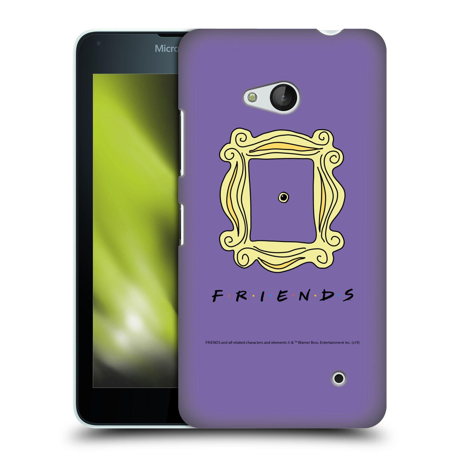 Pouzdro na mobil Microsoft Lumia 640 / 640 DUAL SIM - HEAD CASE - Seriál Přátelé - rám obrazu kukátko