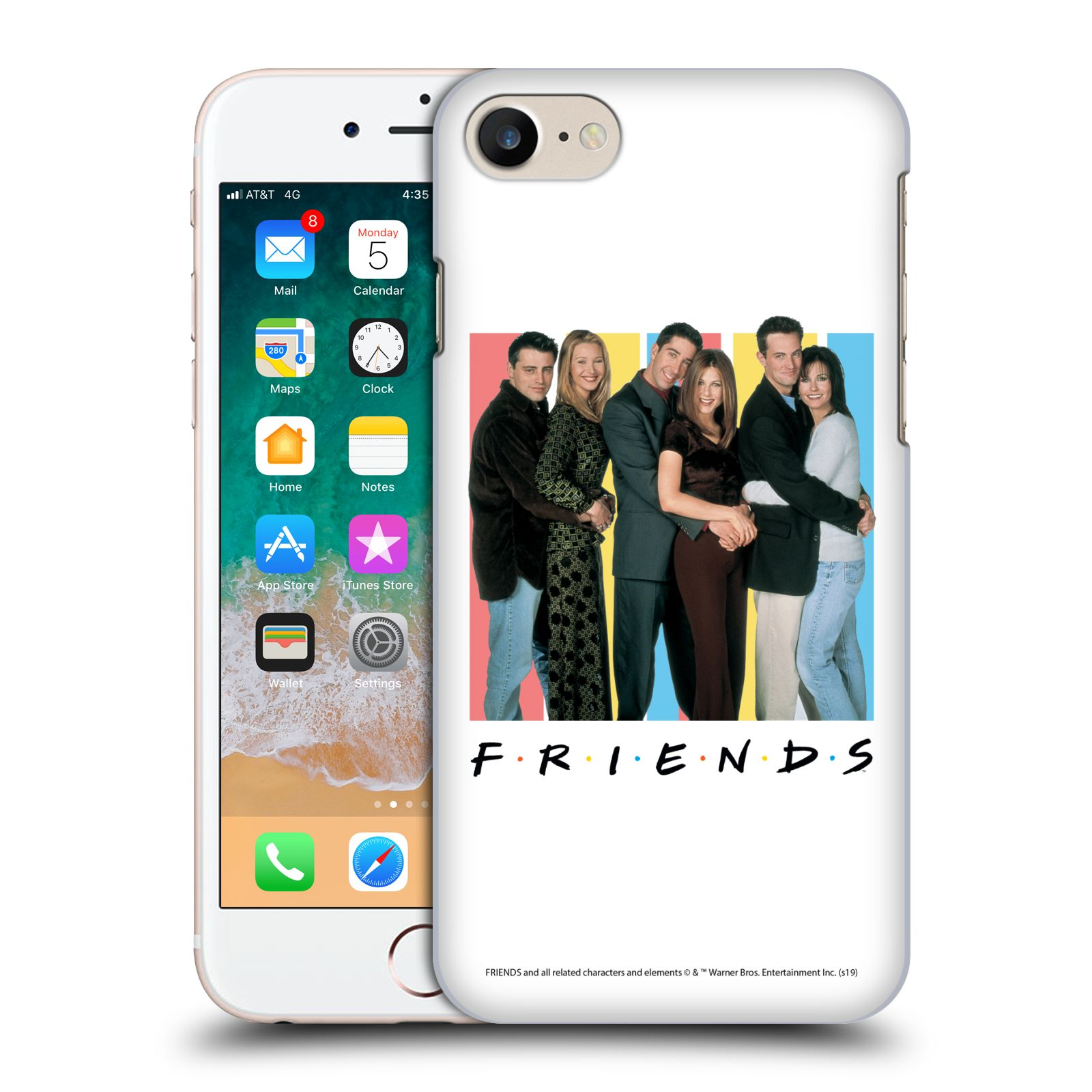 Pouzdro na mobil Apple Iphone 7/8 - HEAD CASE - Seriál Přátelé - Foto