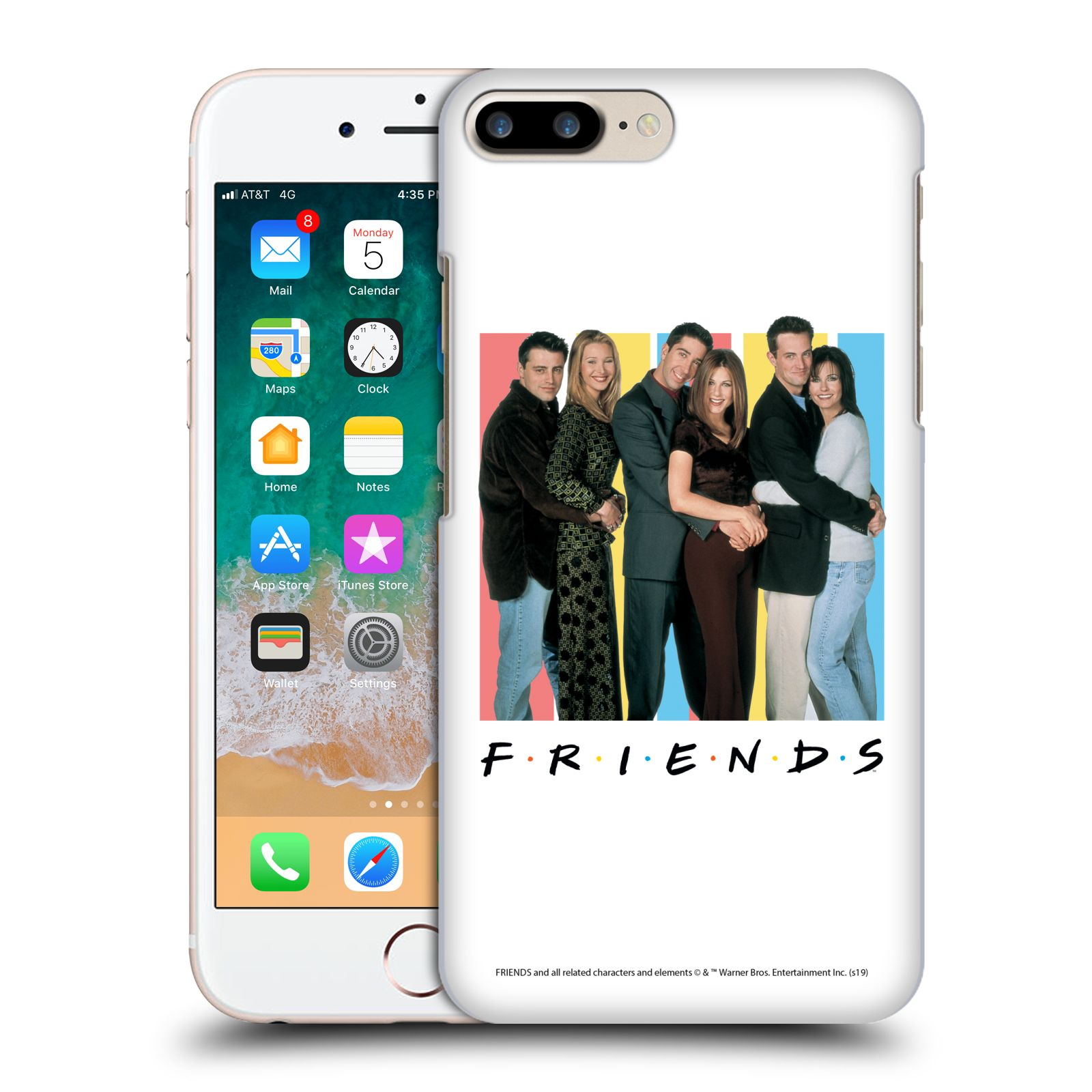 Pouzdro na mobil Apple Iphone 7/8 PLUS - HEAD CASE - Seriál Přátelé - Foto