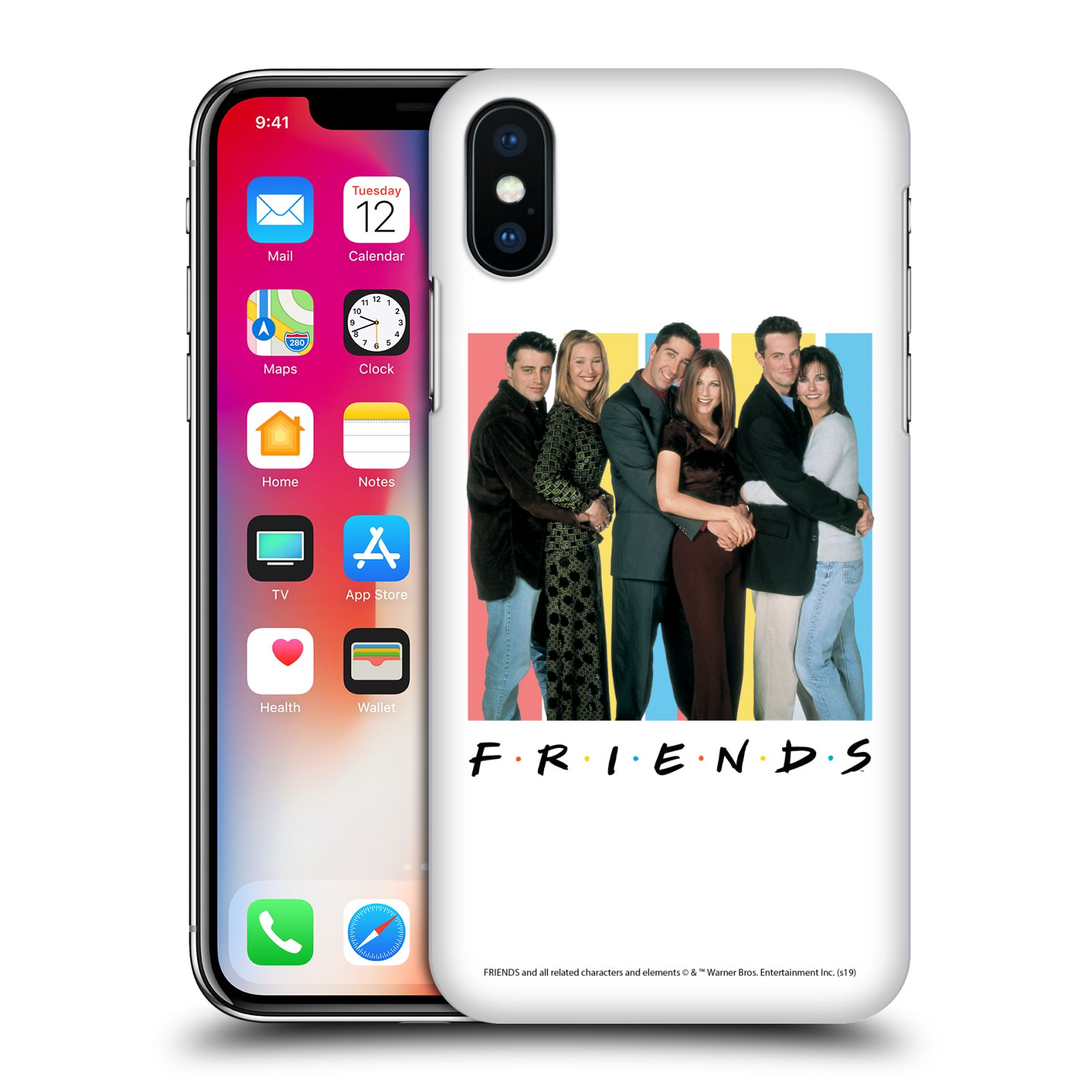 Pouzdro na mobil Apple Iphone X/XS - HEAD CASE - Seriál Přátelé - Foto