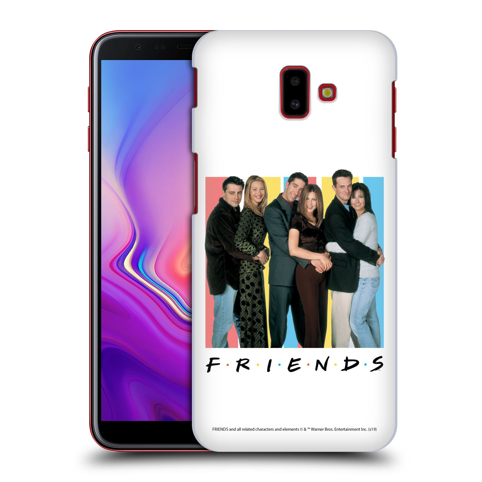 Pouzdro na mobil Samsung Galaxy J6+ - HEAD CASE - Seriál Přátelé - Foto