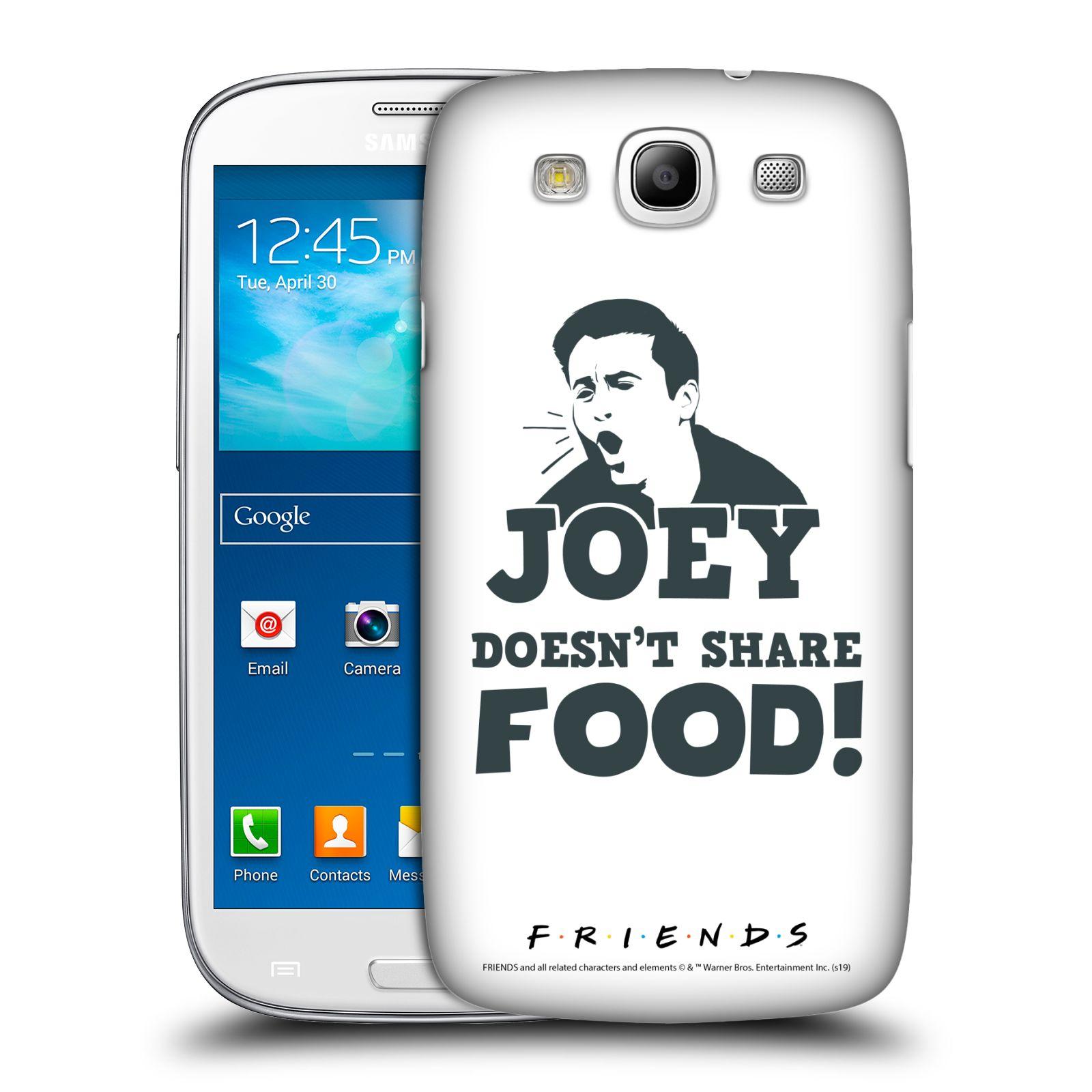 Pouzdro na mobil Samsung Galaxy S3 - HEAD CASE - Seriál Přátelé - Joey se o jídlo nedělí
