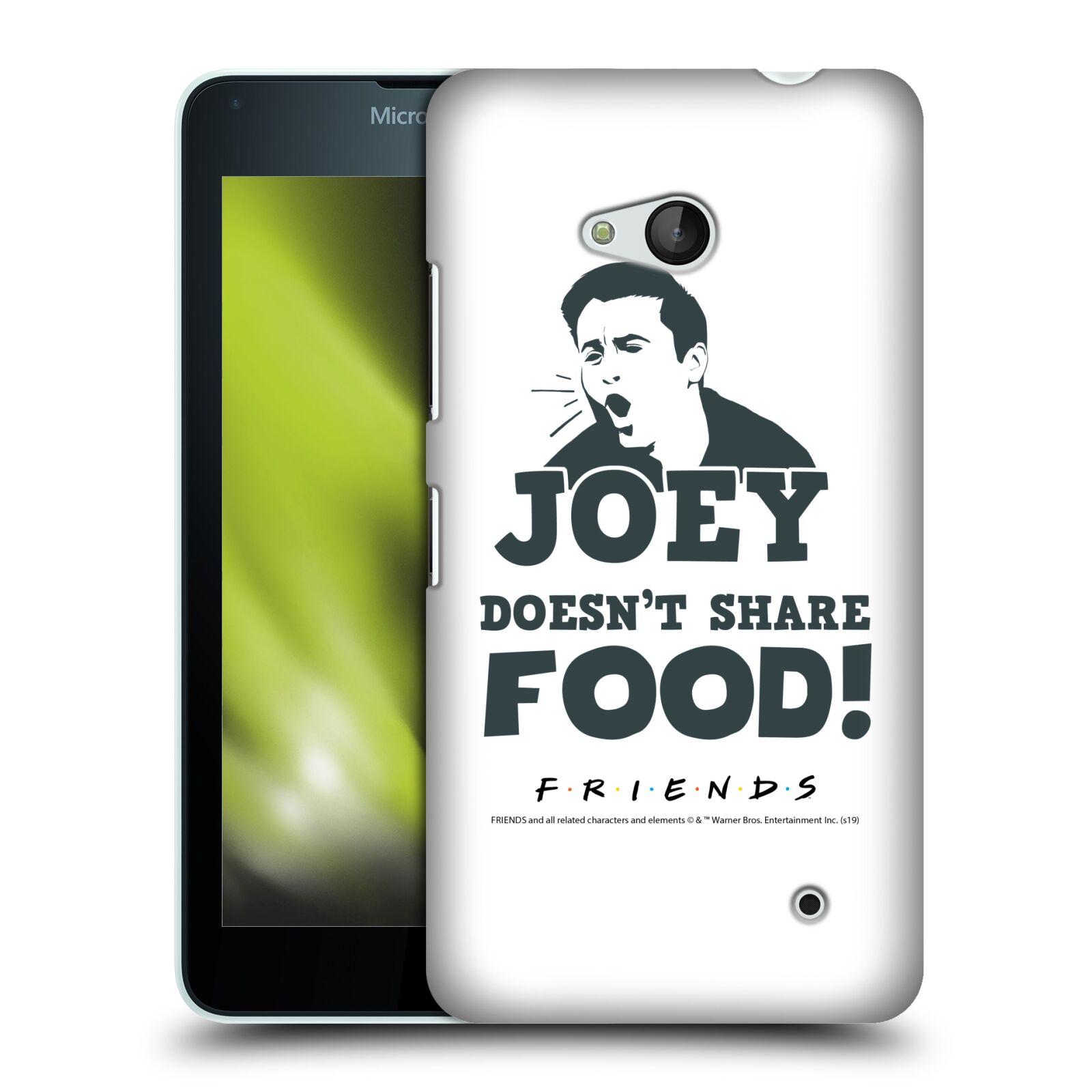 Pouzdro na mobil Microsoft Lumia 640 / 640 DUAL SIM - HEAD CASE - Seriál Přátelé - Joey se o jídlo nedělí