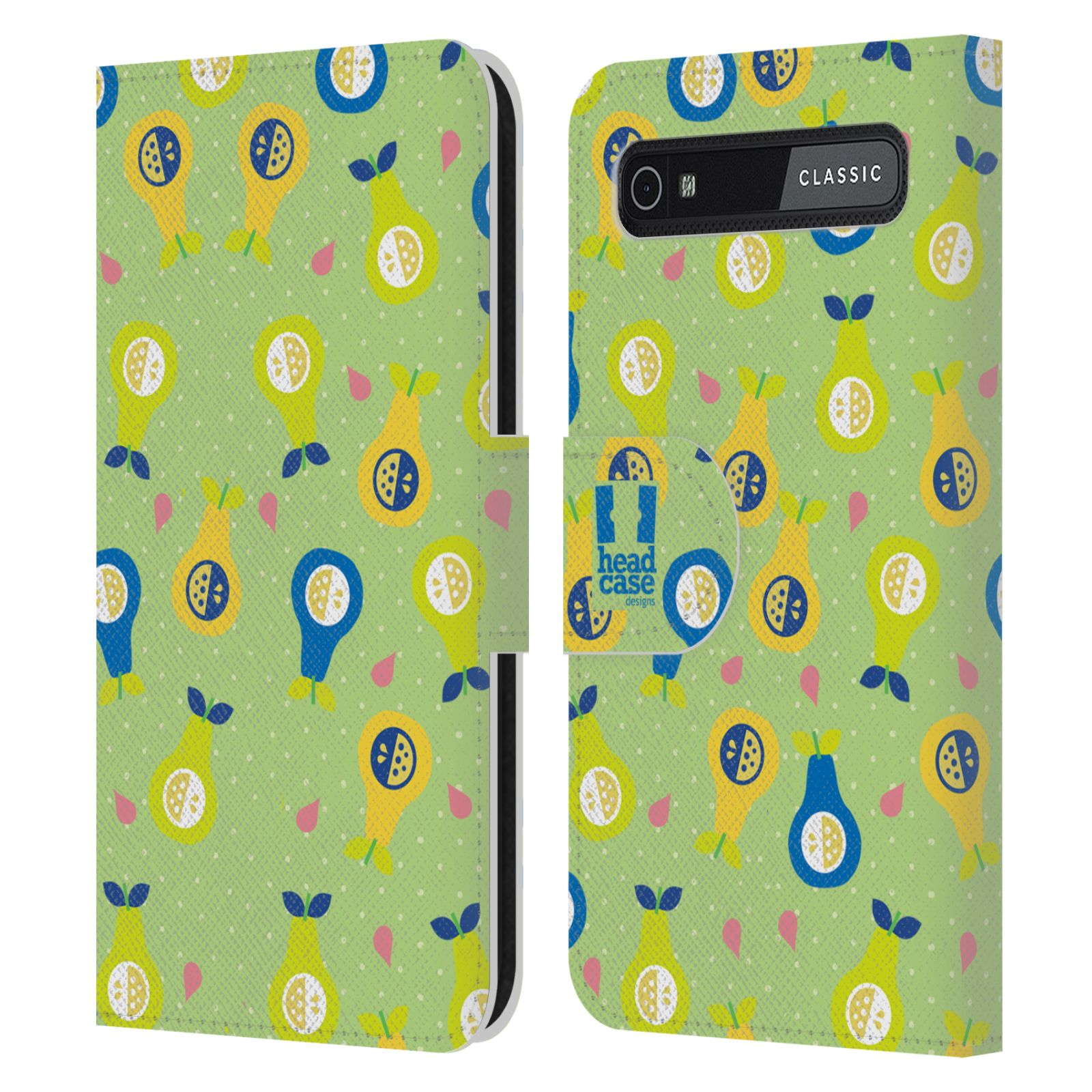Book Cover Black Berry : Fruit patterns leather book wallet case cover for