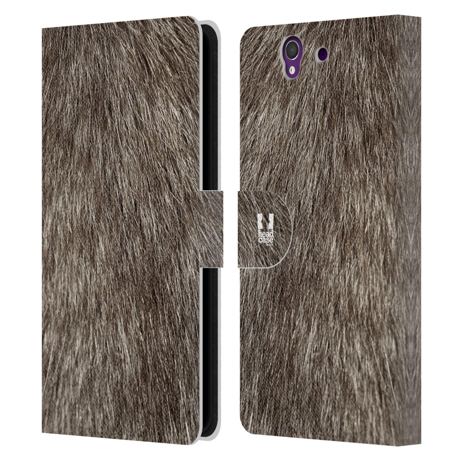 HEAD CASE Flipové pouzdro pro mobil SONY XPERIA Z (C6603) zvíře srst divoká kolekce liška