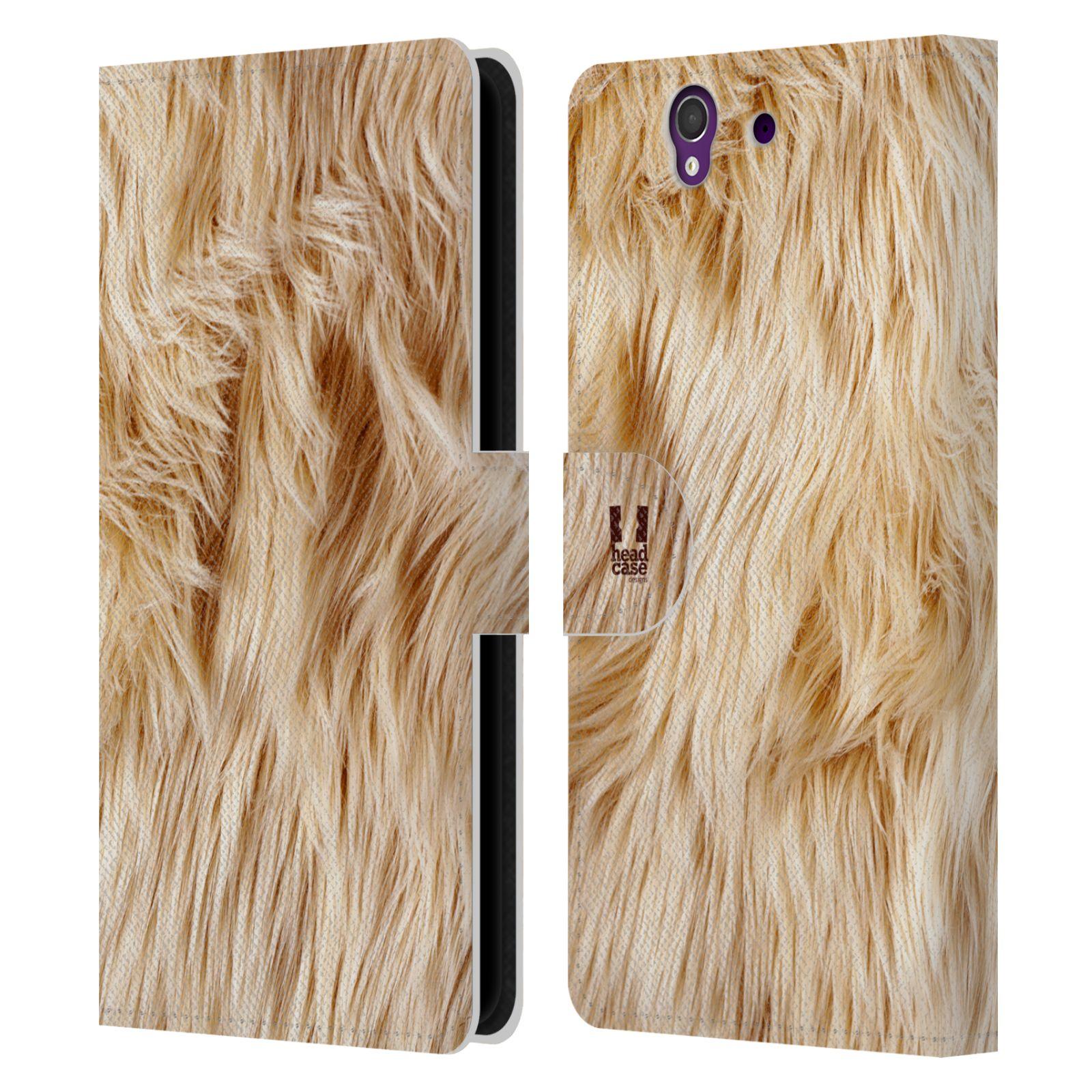 HEAD CASE Flipové pouzdro pro mobil SONY XPERIA Z (C6603) zvíře srst divoká kolekce pes teriér