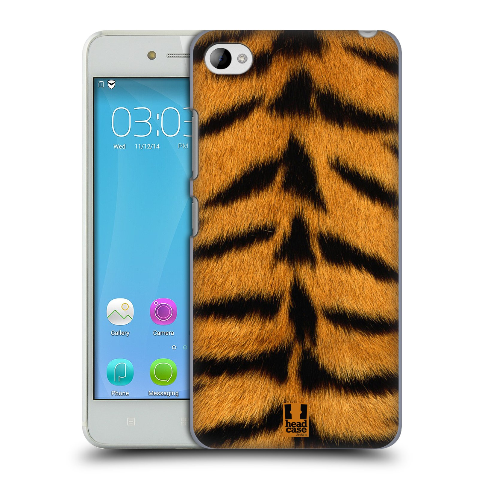 HEAD CASE pevný plastový obal na mobil LENOVO S90 vzor Srstnatá kolekce TYGR