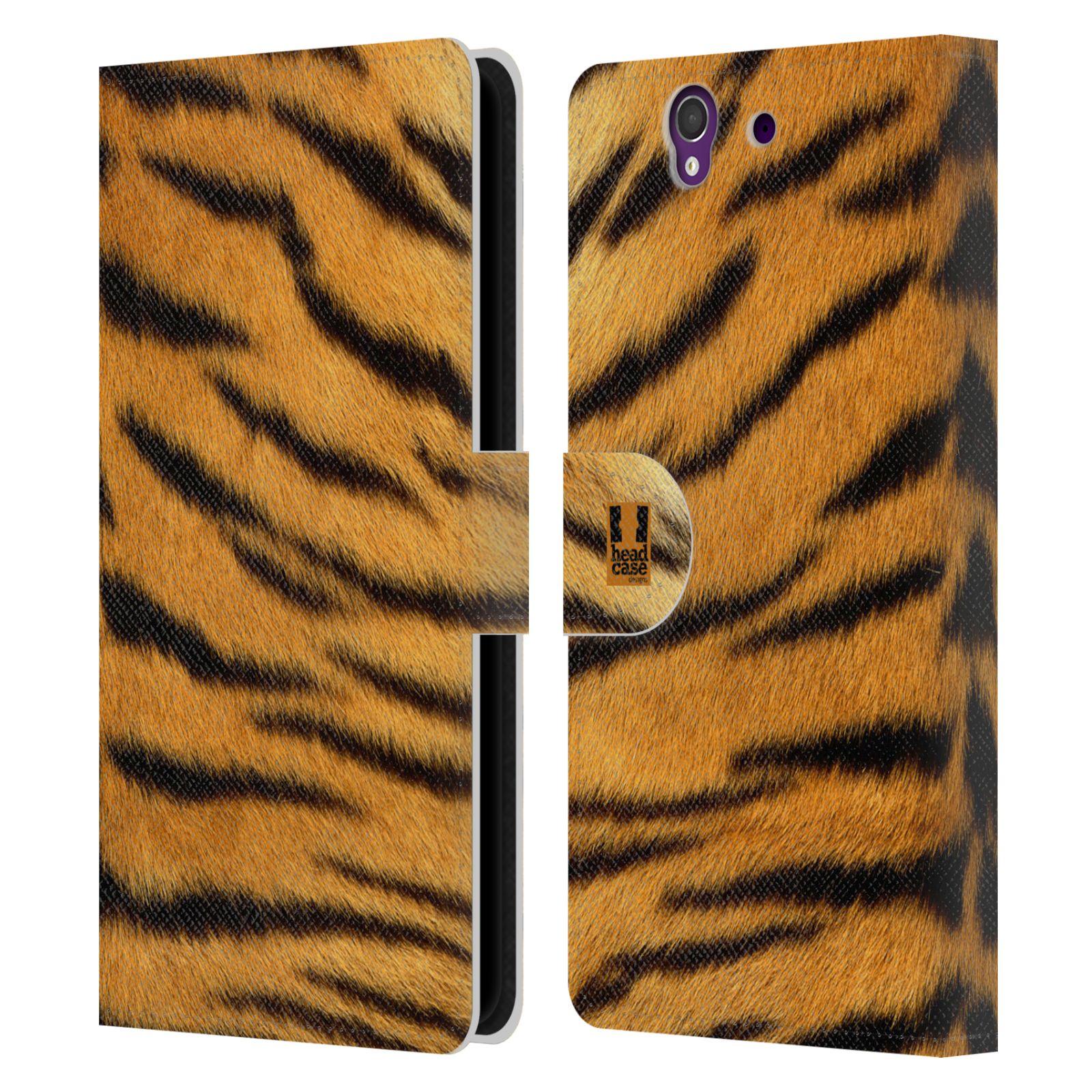 HEAD CASE Flipové pouzdro pro mobil SONY XPERIA Z (C6603) zvíře srst divoká kolekce tygr