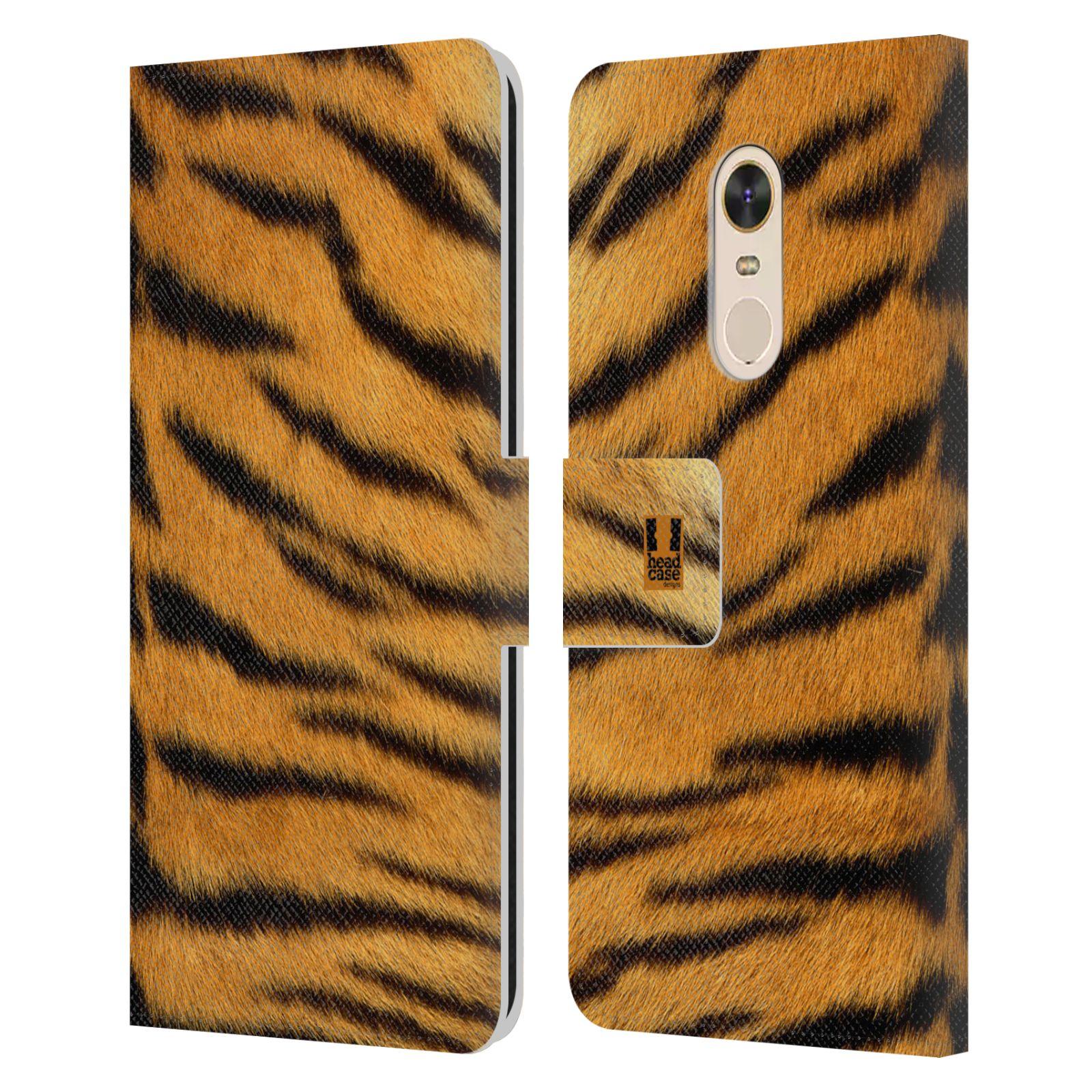 HEAD CASE Flipové pouzdro pro mobil Xiaomi Redmi Note 5 zvíře srst divoká kolekce tygr