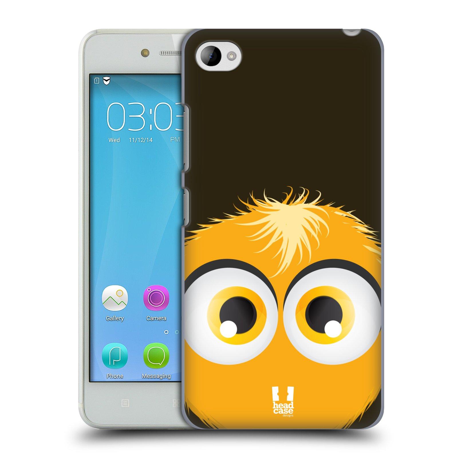 HEAD CASE pevný plastový obal na mobil LENOVO S90 vzor Barevný chlupatý smajlík ŽLUTÁ BARVA