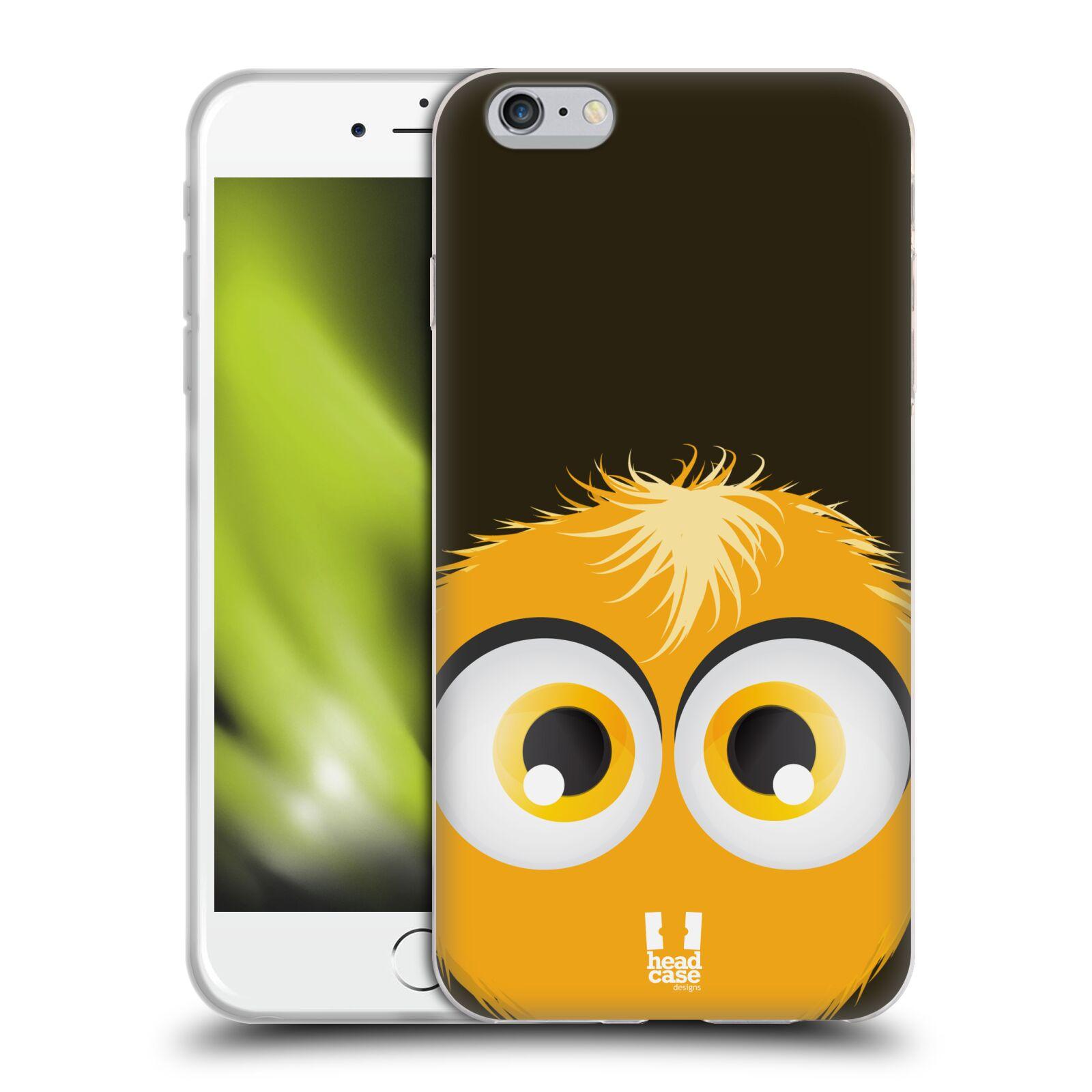 HEAD CASE silikonový obal na mobil Apple Iphone 6 PLUS  6S PLUS vzor  Barevný chlupatý smajlík ŽLUTÁ BARVA 4a6ed47e30d