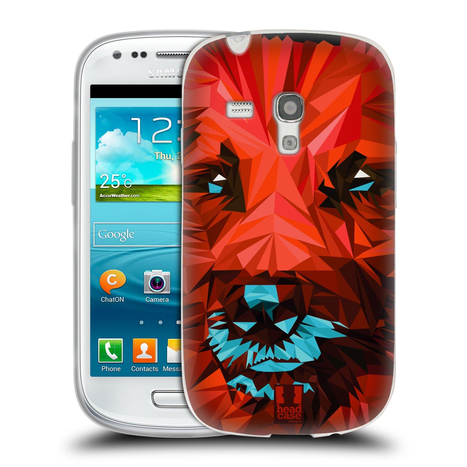 HEAD CASE silikonový obal na mobil Samsung Galaxy S3 MINI i8190 vzor Geometrická zvířata 2 pes
