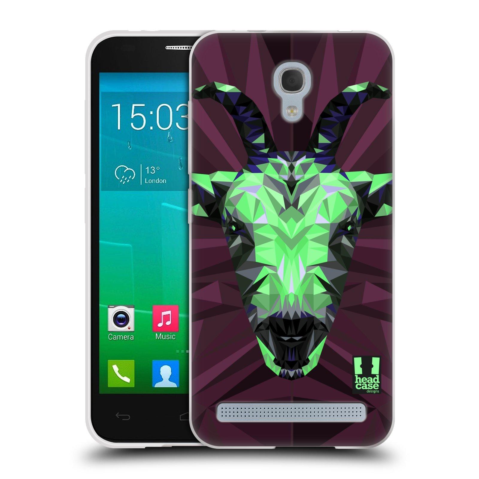 HEAD CASE silikonový obal na mobil Alcatel Idol 2 MINI S 6036Y vzor Geometrická zvířata 2 kozel