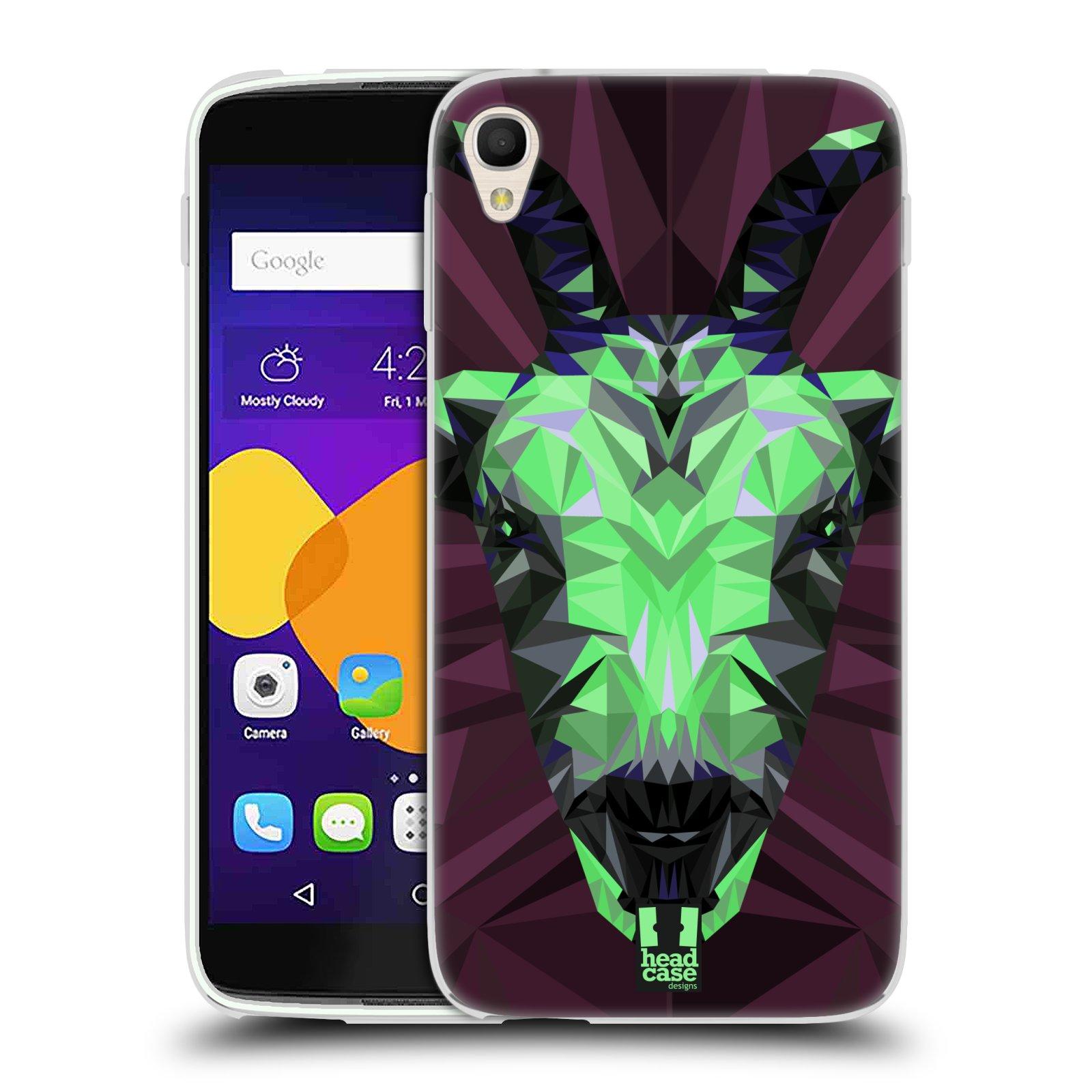 HEAD CASE silikonový obal na mobil Alcatel Idol 3 OT-6045Y (5.5) vzor Geometrická zvířata 2 kozel