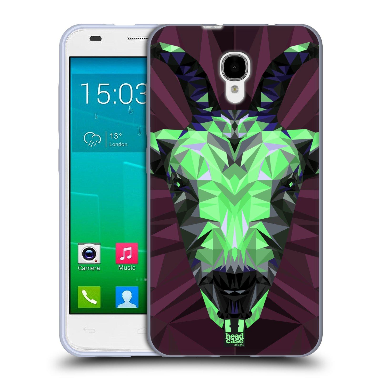 HEAD CASE silikonový obal na mobil Alcatel Idol 2 S OT-6050 vzor Geometrická zvířata 2 kozel
