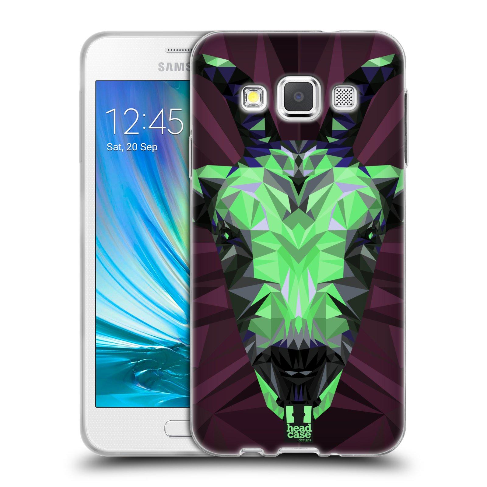 HEAD CASE silikonový obal na mobil Samsung Galaxy A3 vzor Geometrická zvířata 2 kozel