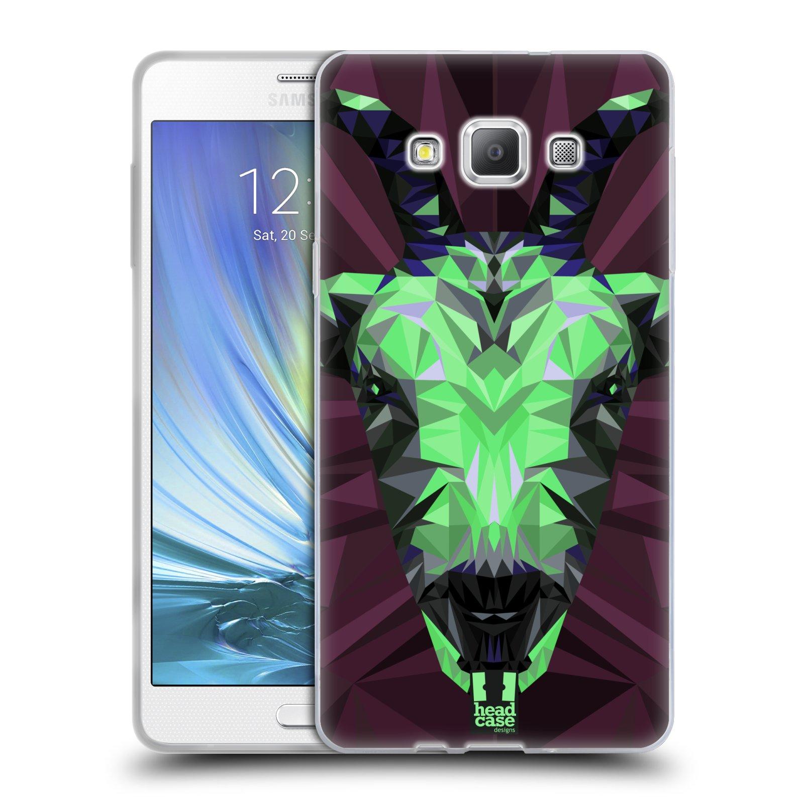 HEAD CASE silikonový obal na mobil Samsung Galaxy A7 vzor Geometrická zvířata 2 kozel