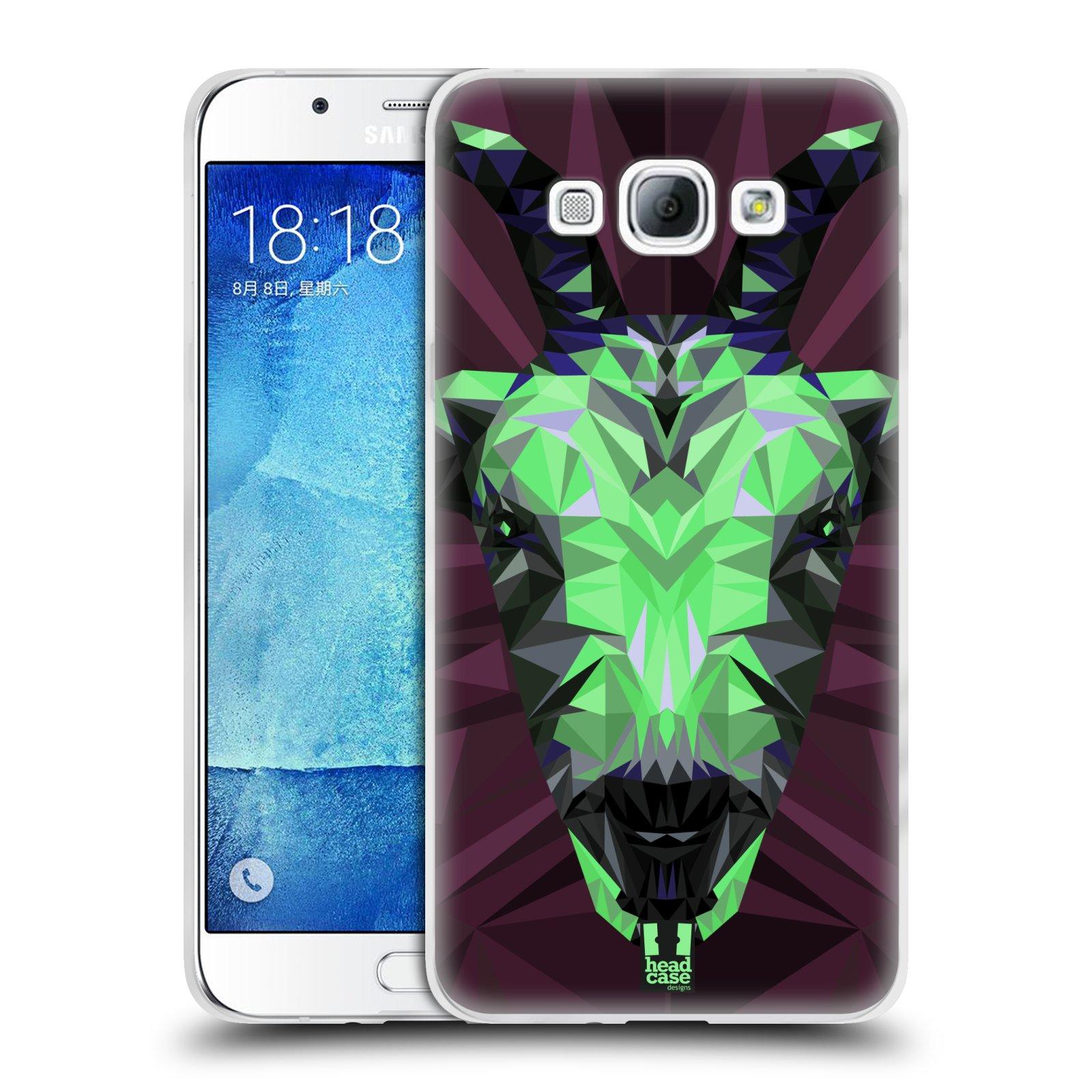 HEAD CASE silikonový obal na mobil Samsung Galaxy A8 vzor Geometrická zvířata 2 kozel