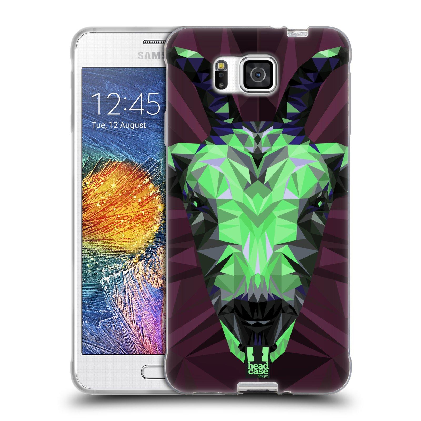 HEAD CASE silikonový obal na mobil Samsung Galaxy ALPHA vzor Geometrická zvířata 2 kozel
