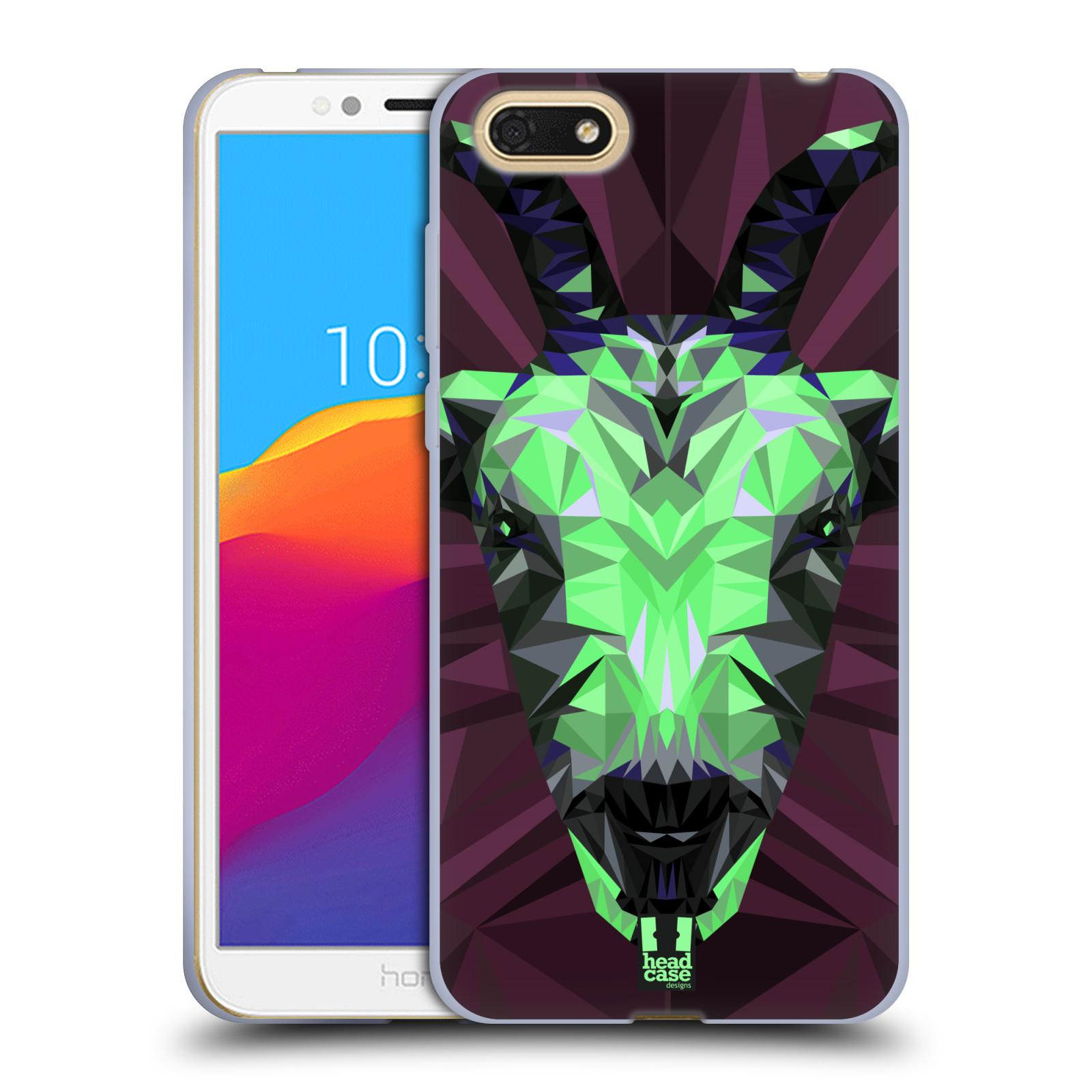 HEAD CASE silikonový obal na mobil Honor 7S vzor Geometrická zvířata 2 kozel