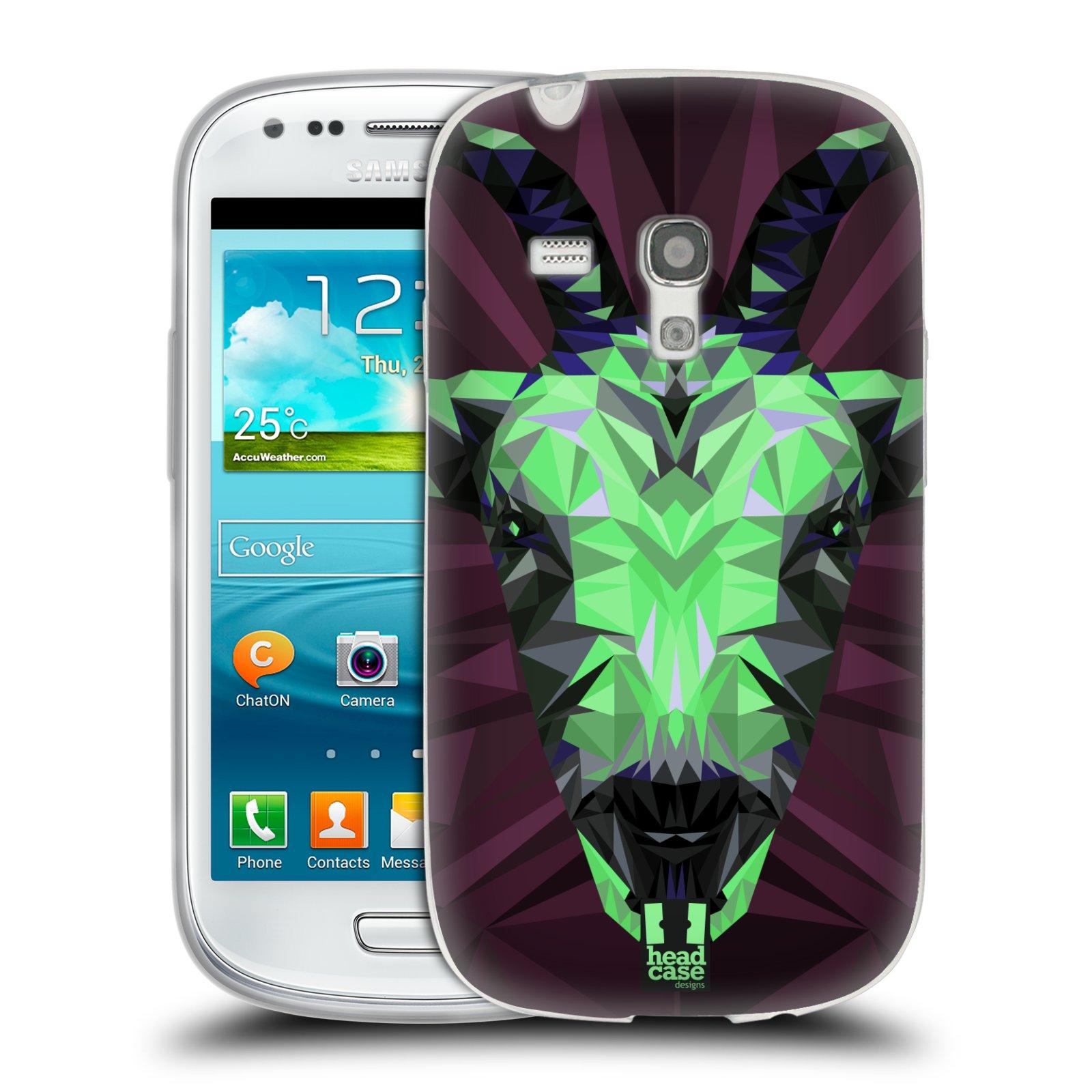 HEAD CASE silikonový obal na mobil Samsung Galaxy S3 MINI i8190 vzor Geometrická zvířata 2 kozel