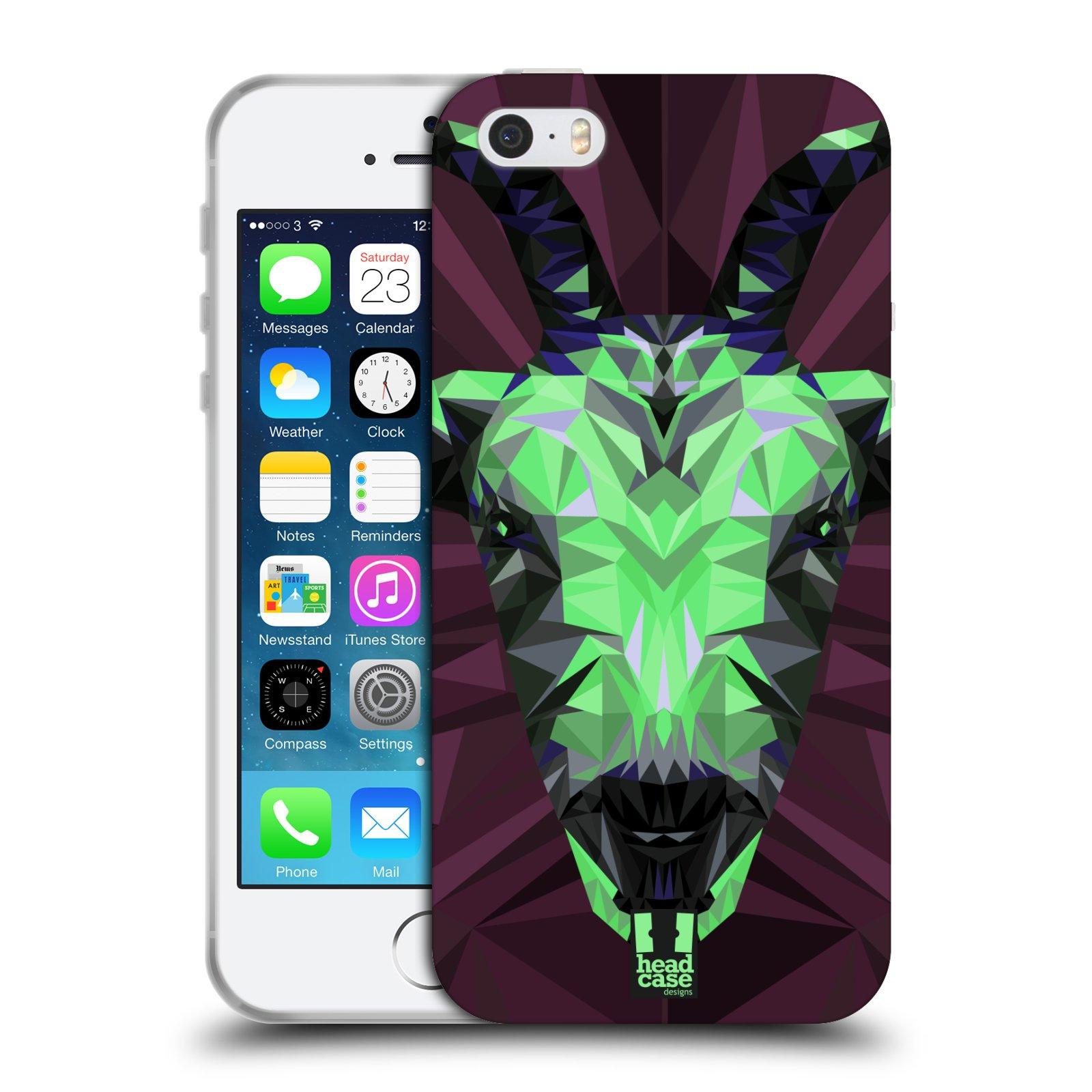 HEAD CASE silikonový obal na mobil Apple Iphone 5/5S vzor Geometrická zvířata 2 kozel