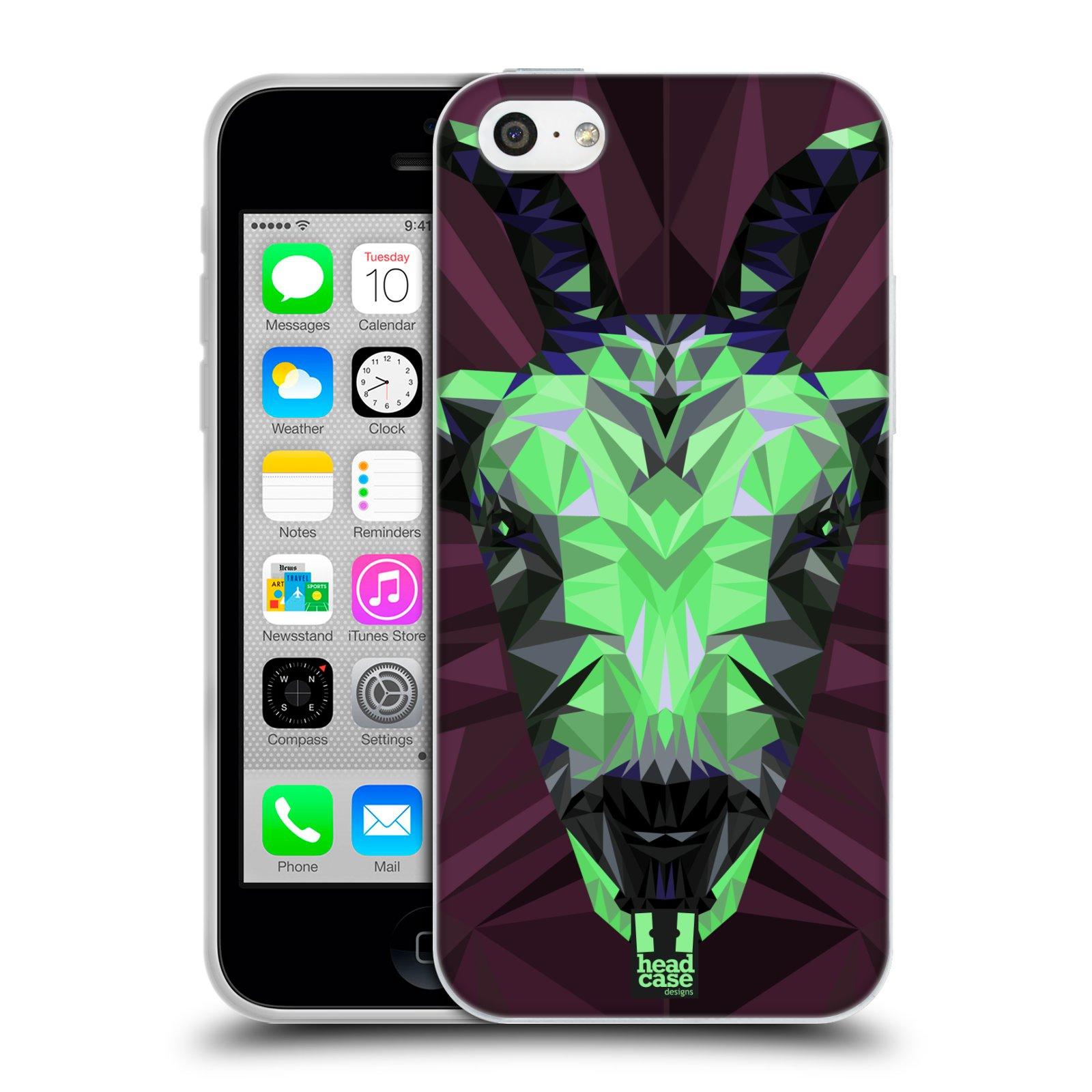 HEAD CASE silikonový obal na mobil Apple Iphone 5C vzor Geometrická zvířata 2 kozel