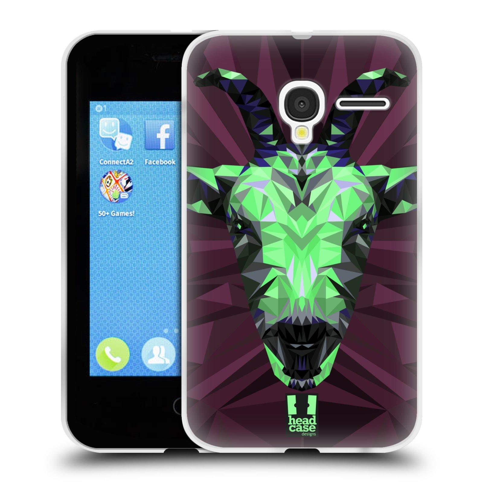 HEAD CASE silikonový obal na mobil Alcatel PIXI 3 OT-4022D (3,5 palcový displej) vzor Geometrická zvířata 2 kozel