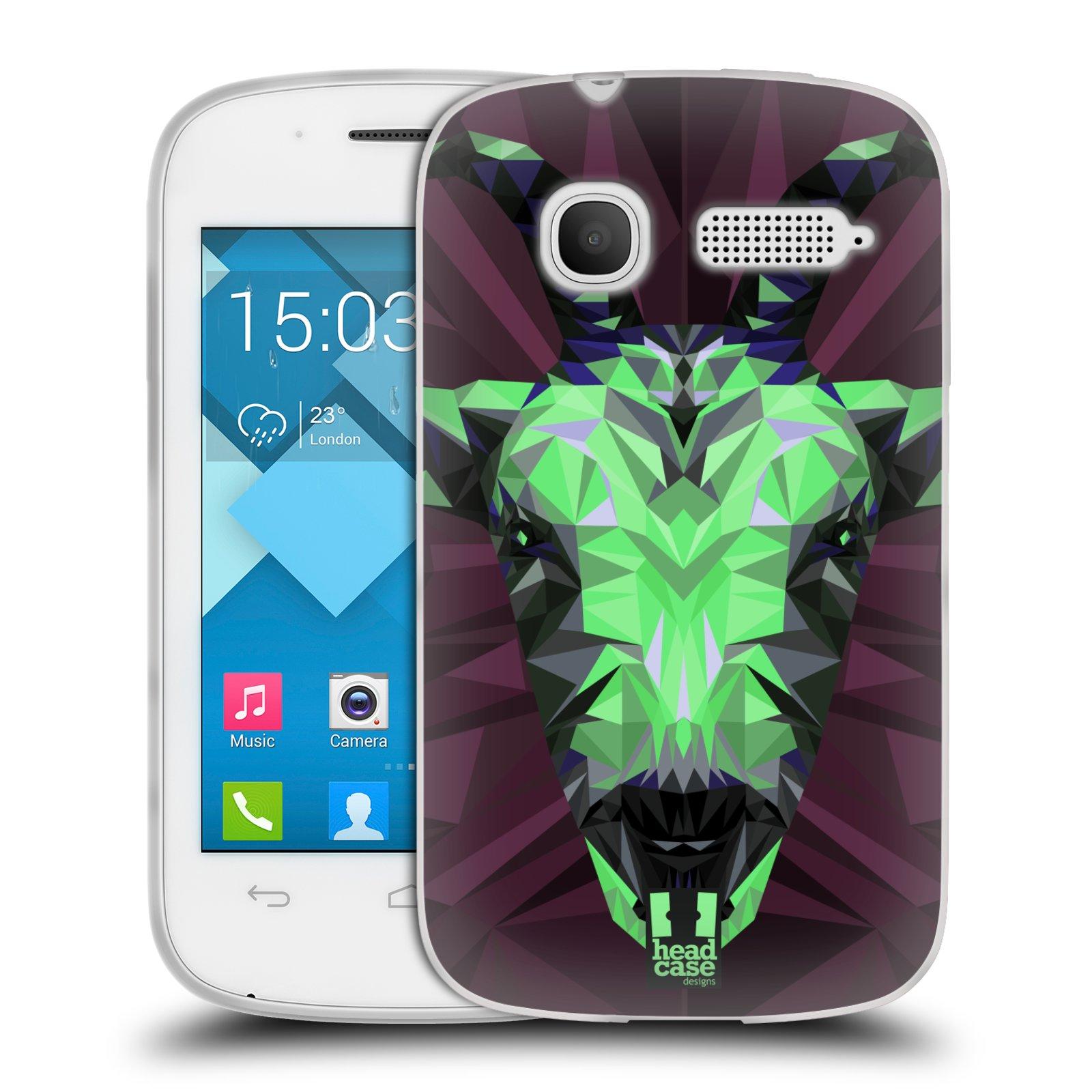 HEAD CASE silikonový obal na mobil Alcatel POP C1 OT-4015D vzor Geometrická zvířata 2 kozel