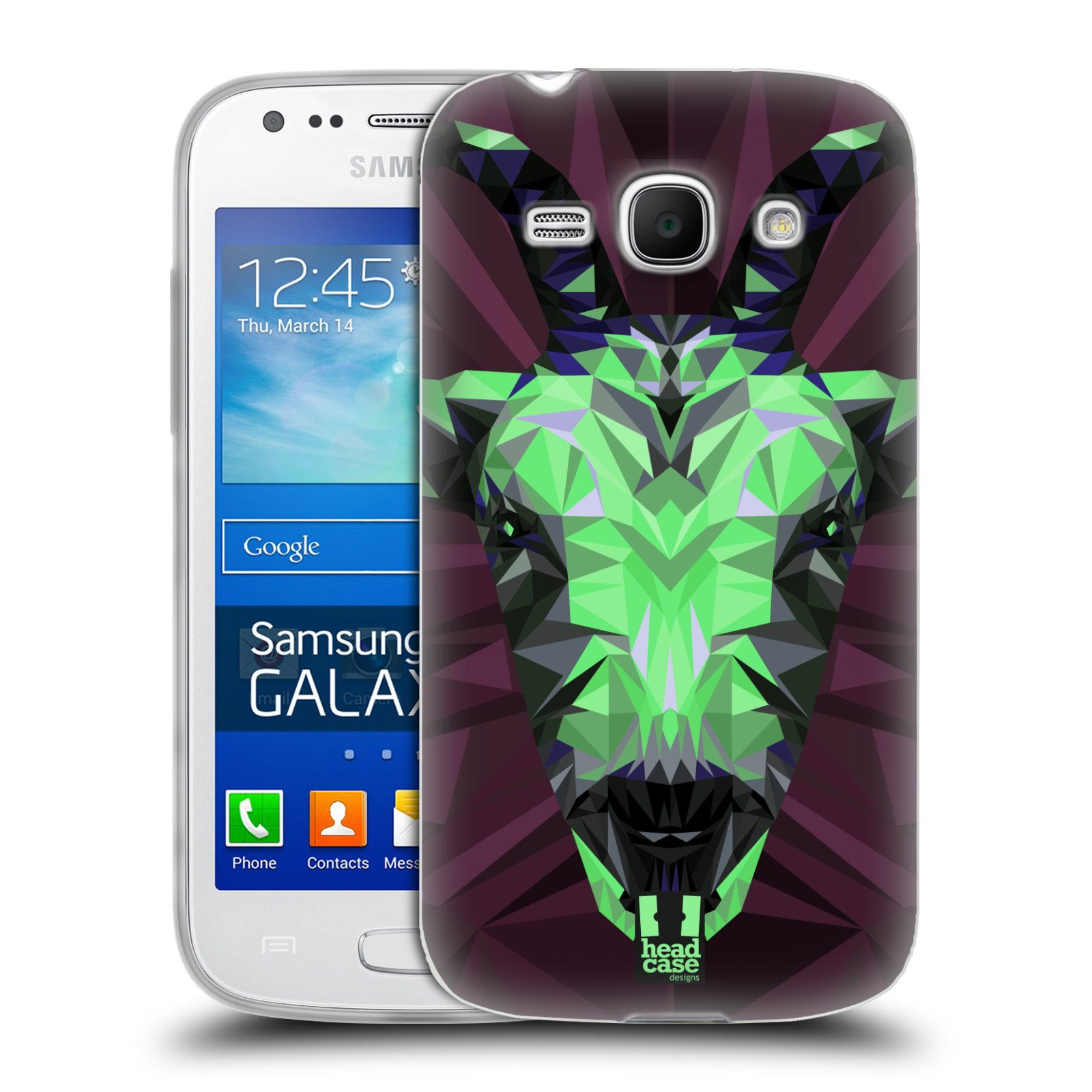 HEAD CASE silikonový obal na mobil Samsung Galaxy Ace 3 vzor Geometrická zvířata 2 kozel