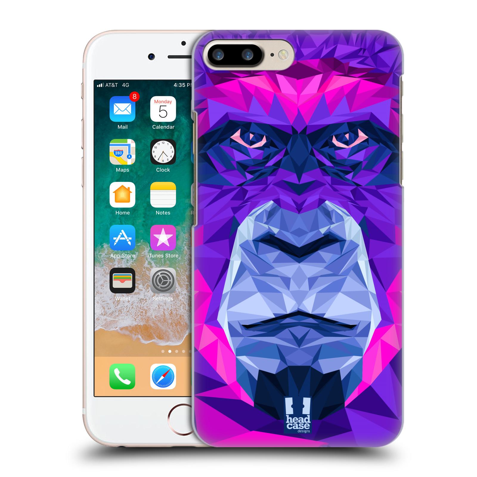 HEAD CASE plastový obal na mobil Apple Iphone 7 PLUS vzor Geometrická zvířata 2 Orangutan