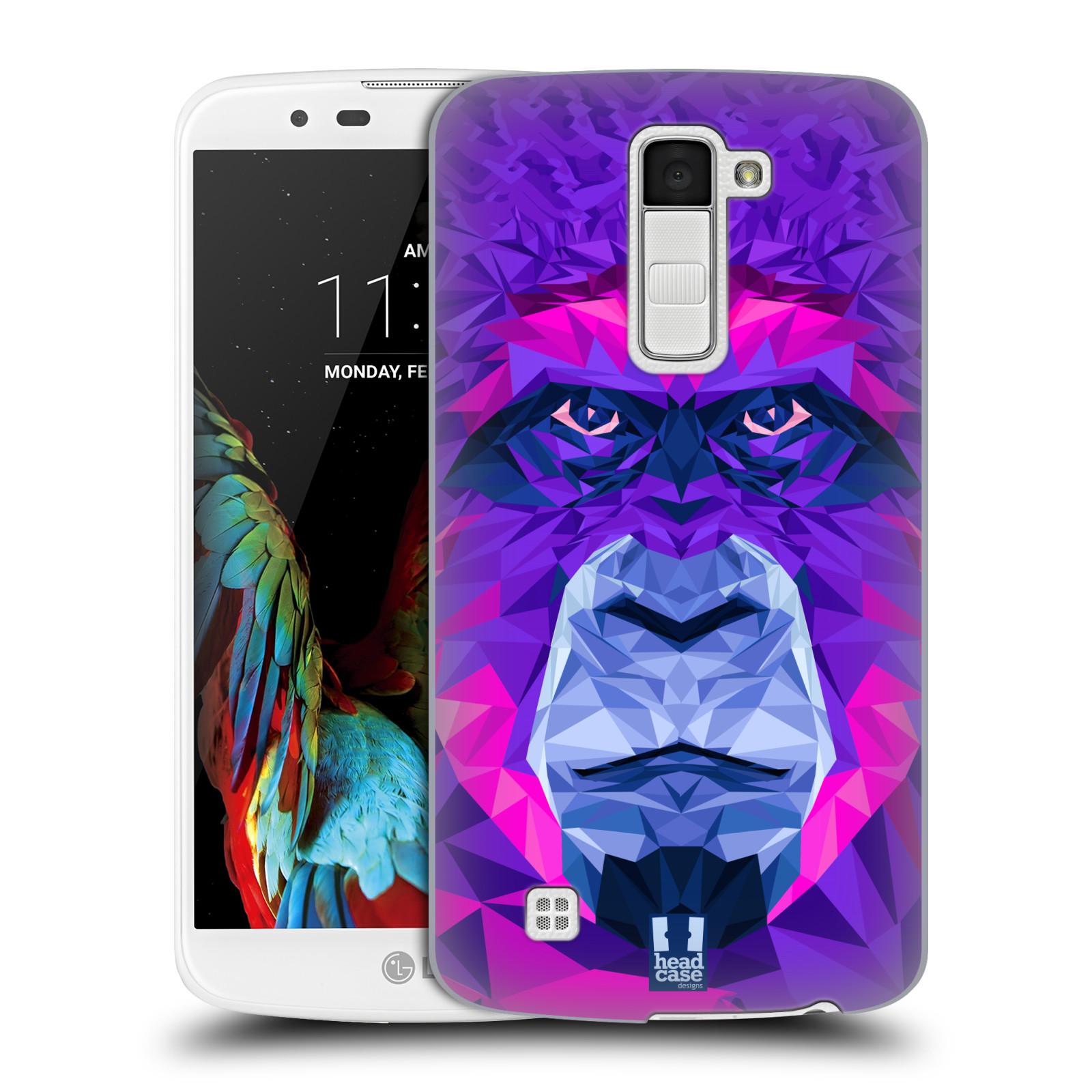 HEAD CASE plastový obal na mobil LG K10 vzor Geometrická zvířata 2 Orangutan