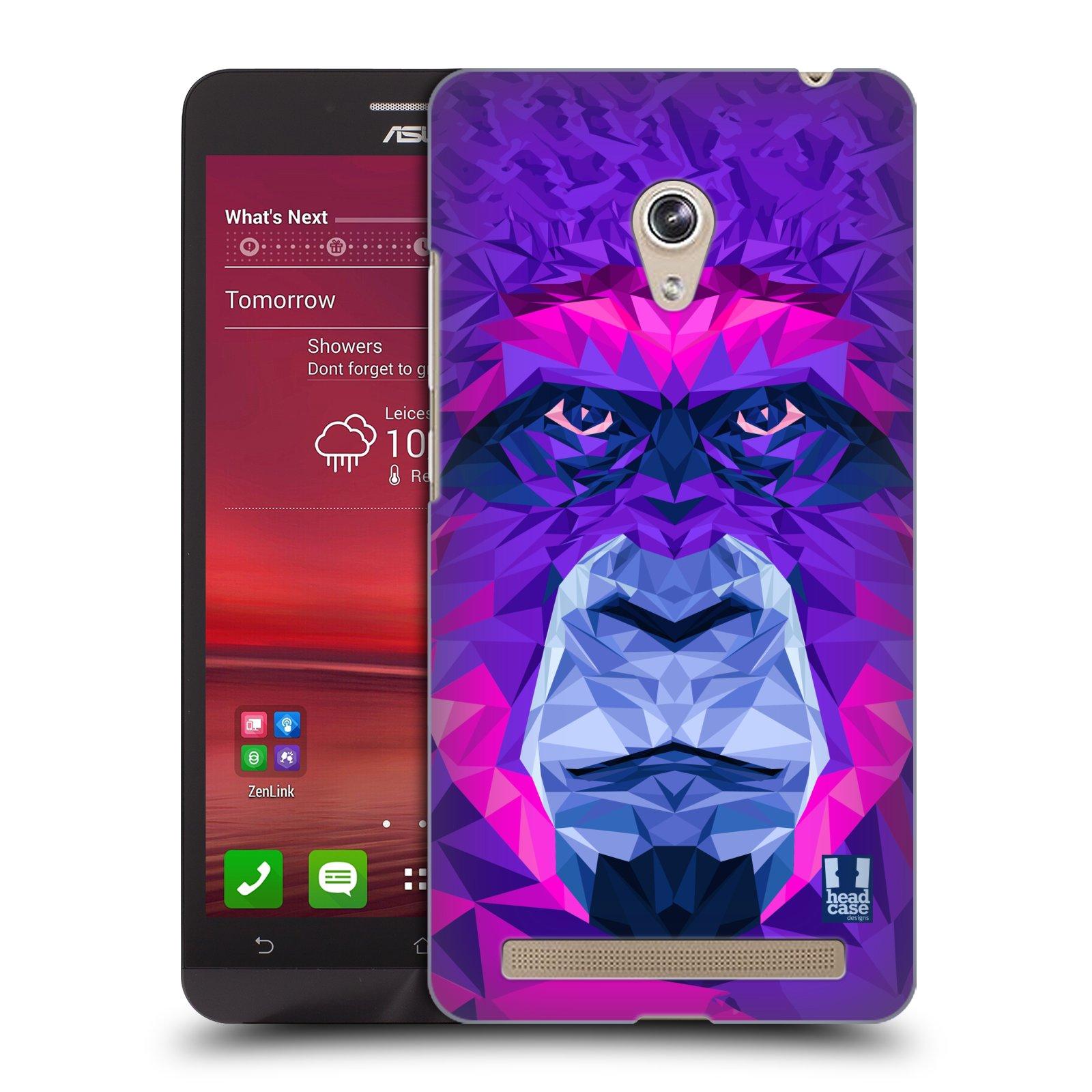 HEAD CASE plastový obal na mobil Asus Zenfone 6 vzor Geometrická zvířata 2 Orangutan