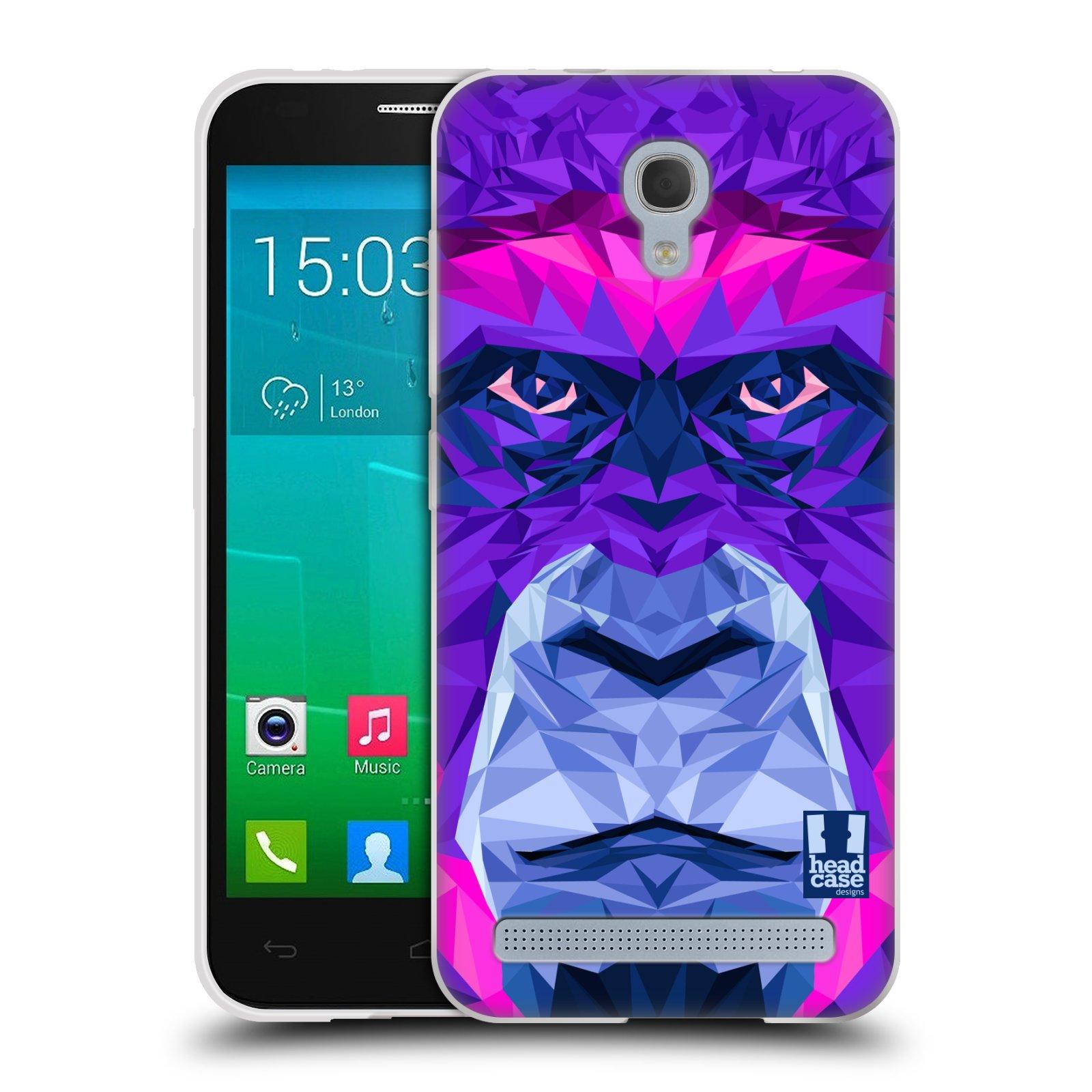 HEAD CASE silikonový obal na mobil Alcatel Idol 2 MINI S 6036Y vzor Geometrická zvířata 2 Orangutan