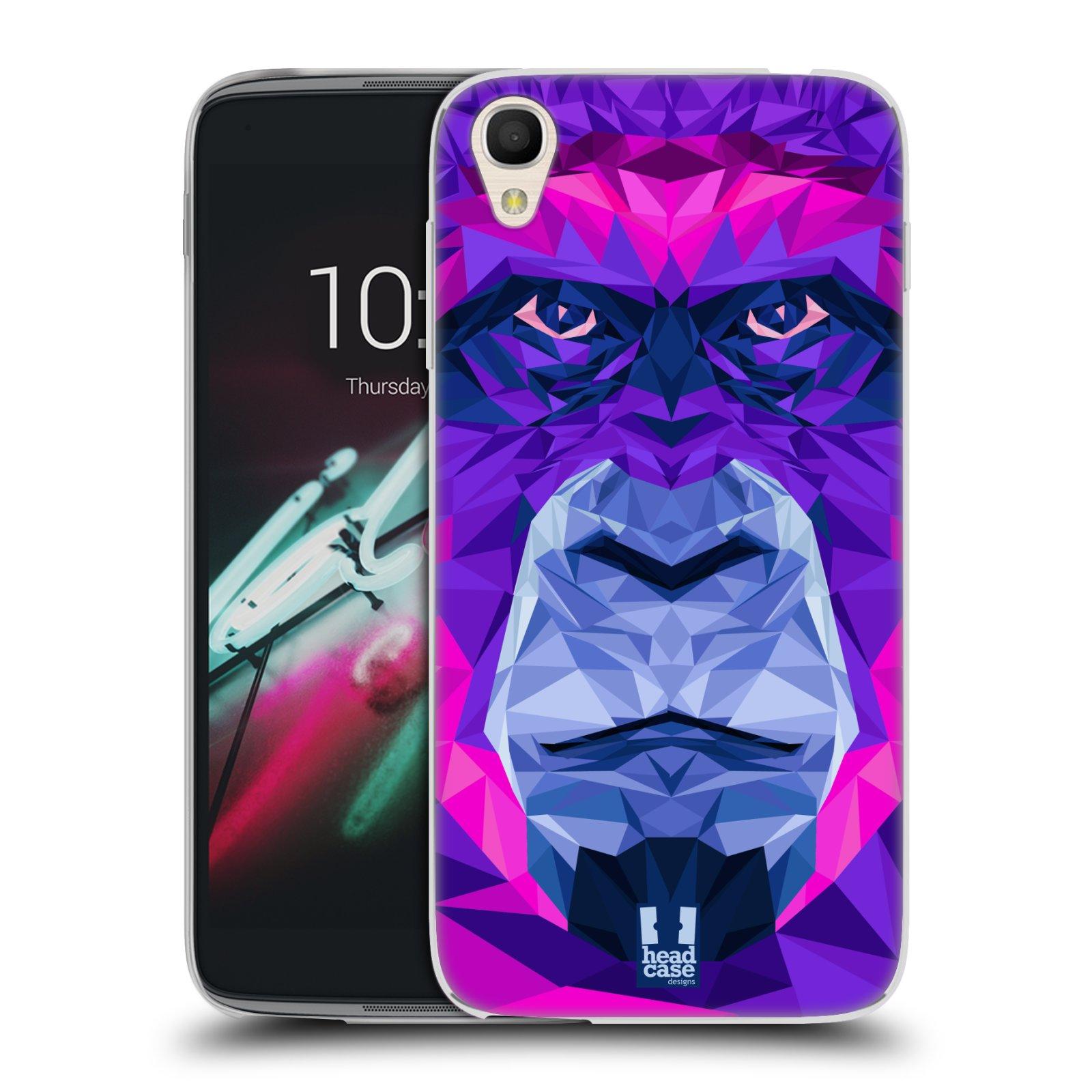HEAD CASE silikonový obal na mobil Alcatel Idol 3 OT-6039Y (4.7) vzor Geometrická zvířata 2 Orangutan