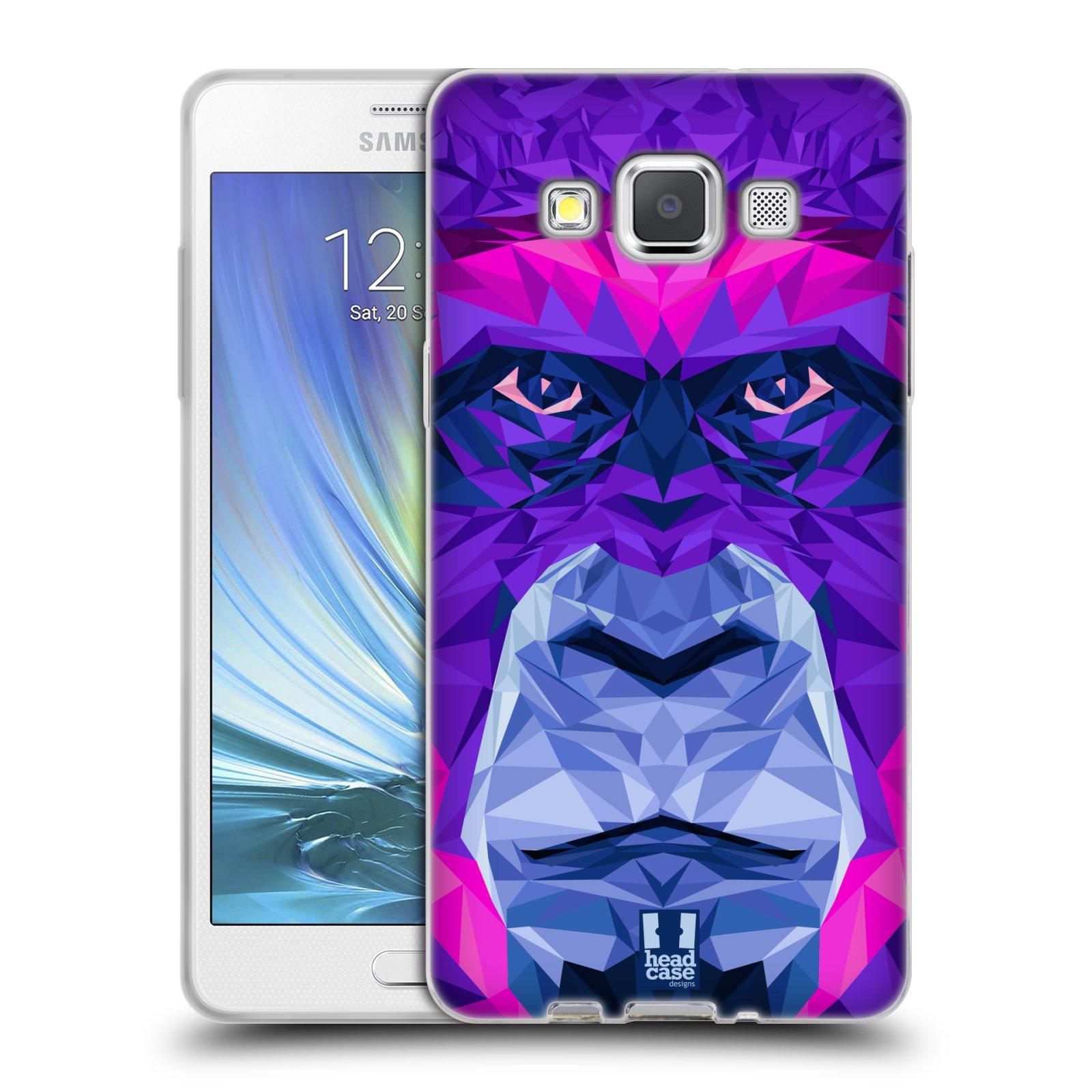HEAD CASE silikonový obal na mobil Samsung Galaxy A5 vzor Geometrická zvířata 2 Orangutan